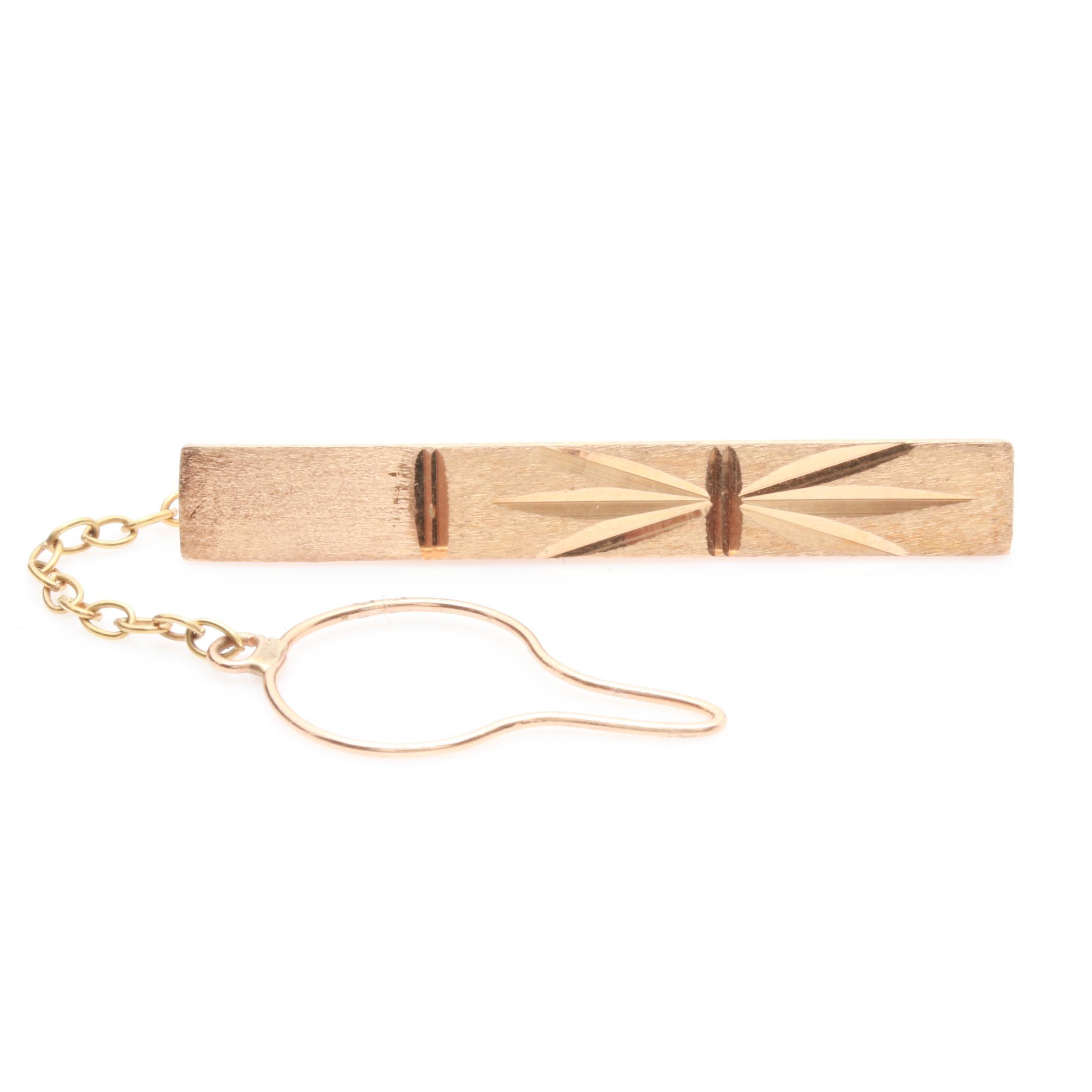 18K Rose Gold Tie Clip