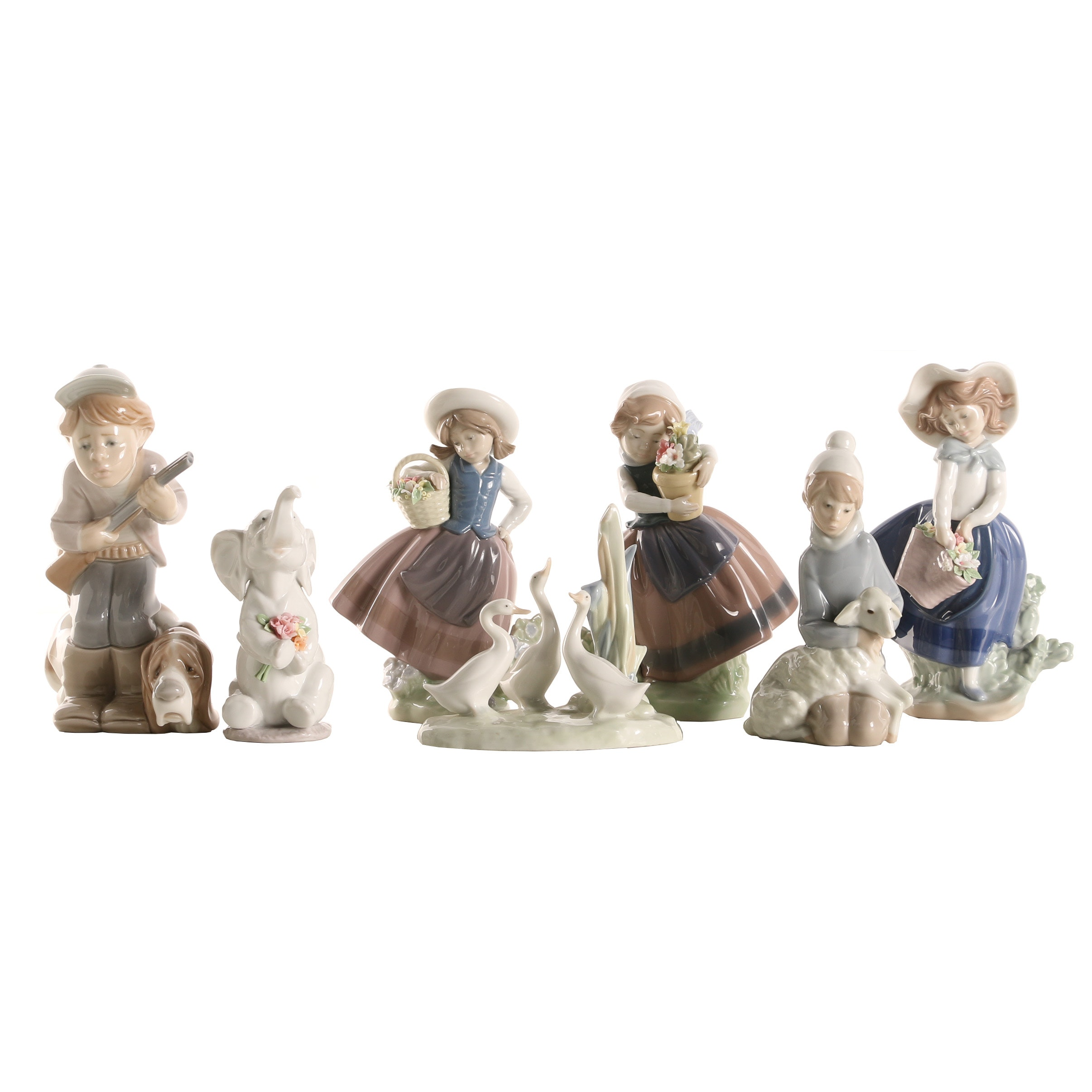 "Lladró Porcelain Figurines Including ""Spring is Here"""