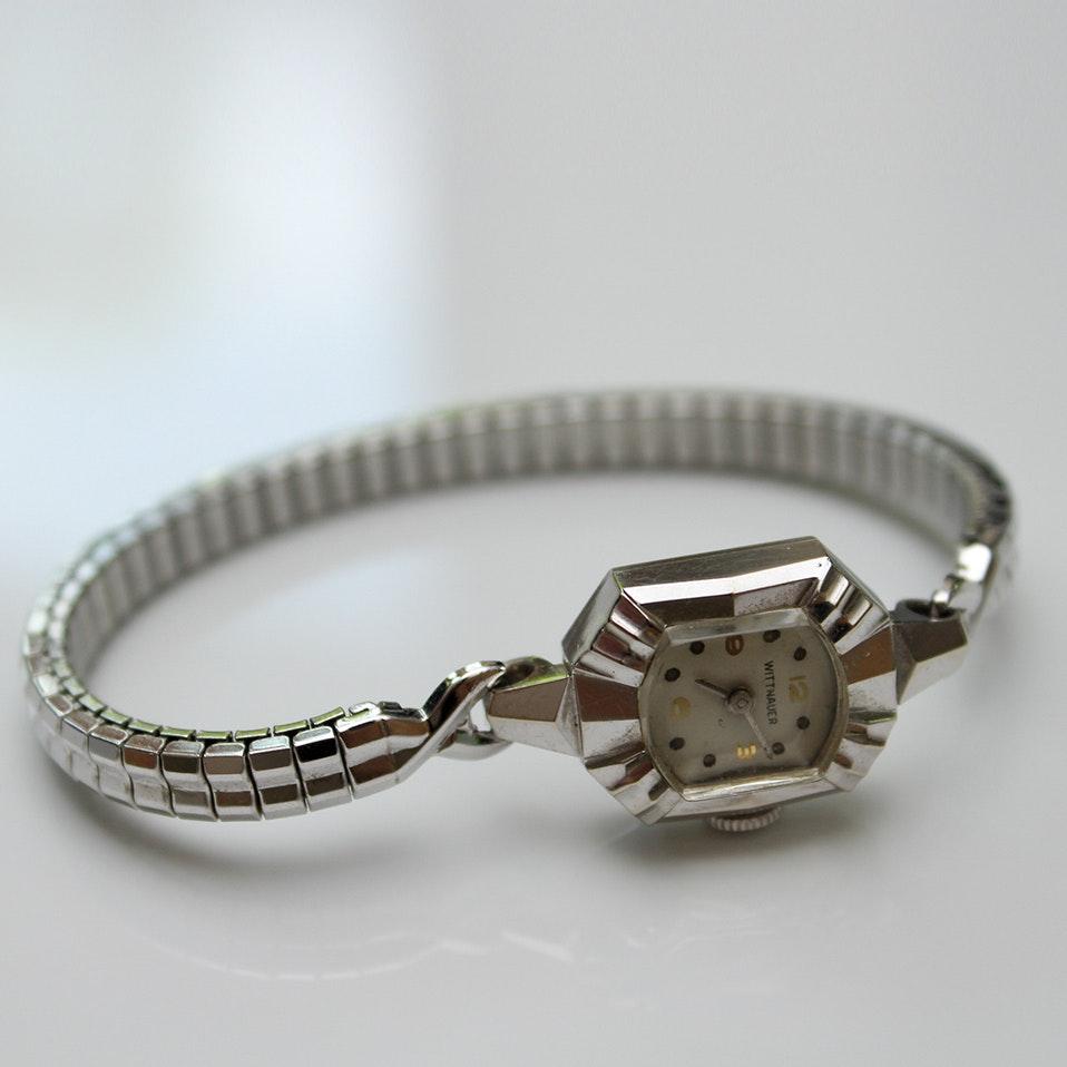 14K White Gold Wittnauer Wristwatch