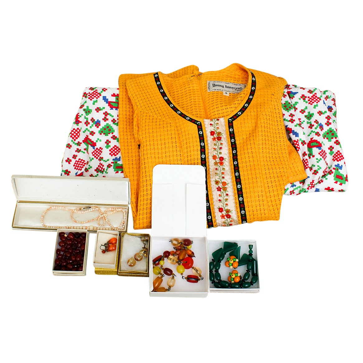 Vintage Clothing and Beaded Jewelry