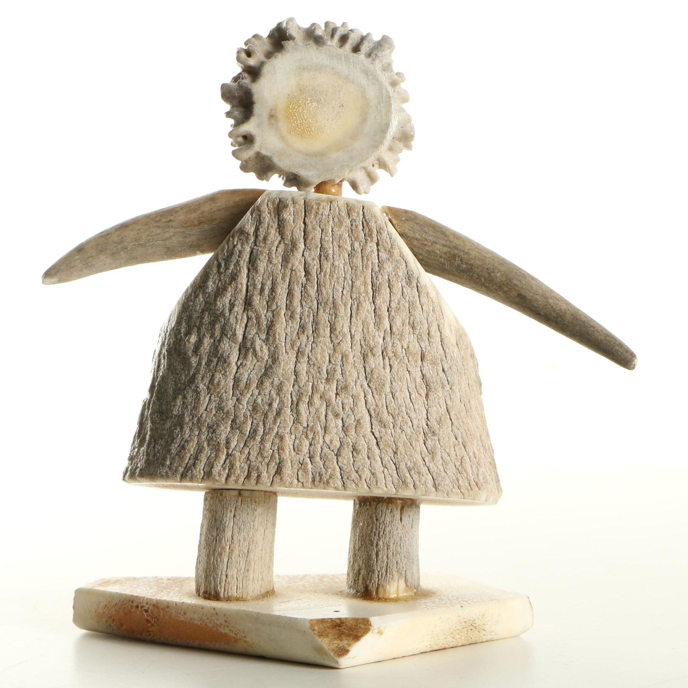 "Doris Whithorn Antler Figure ""A Stone Age Doll"""
