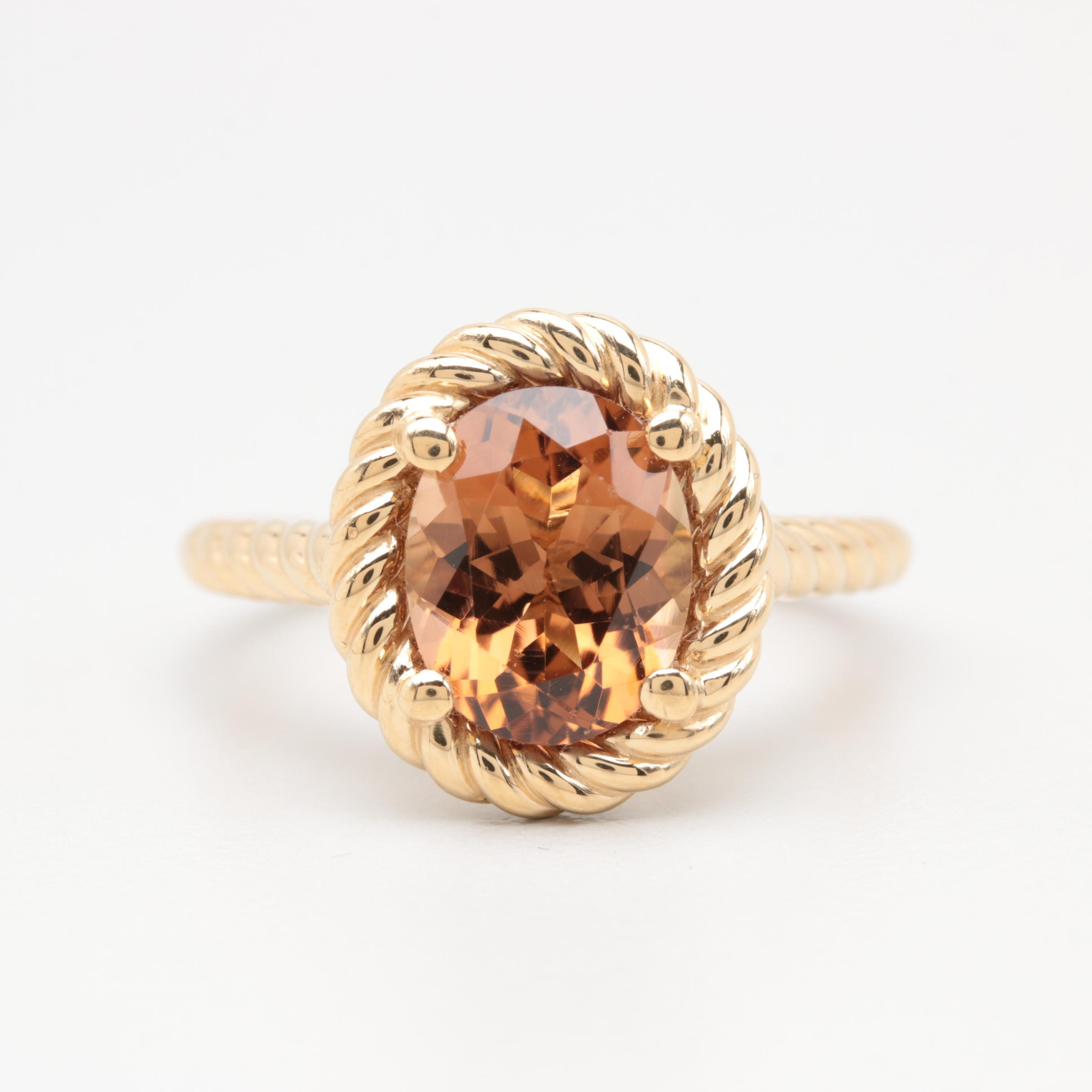 14K Yellow Gold 2.79 CT Tourmaline Ring