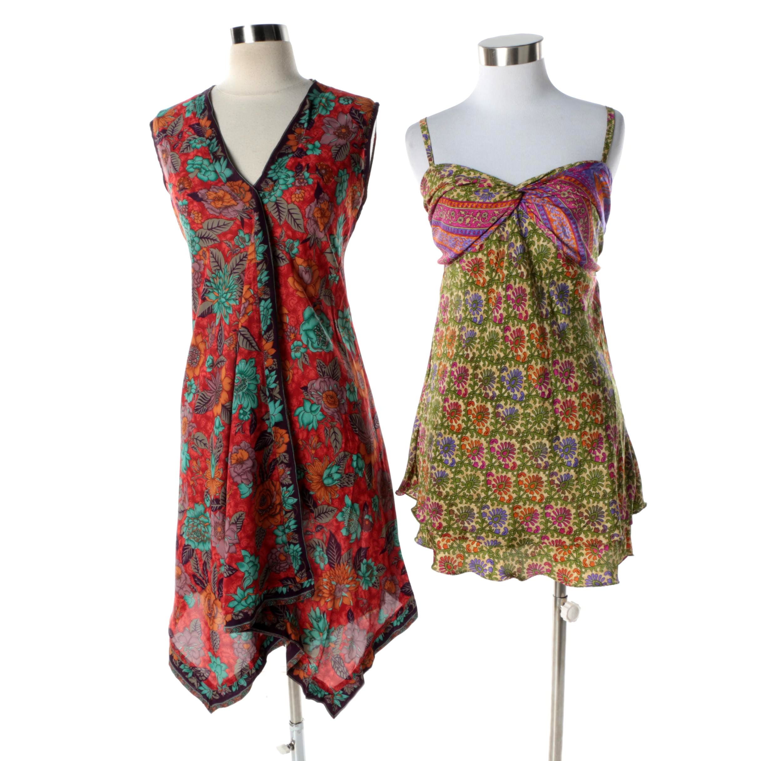 Aller Simplement Sleeveless Dress and Top Made From Upcycled Vintage Saris