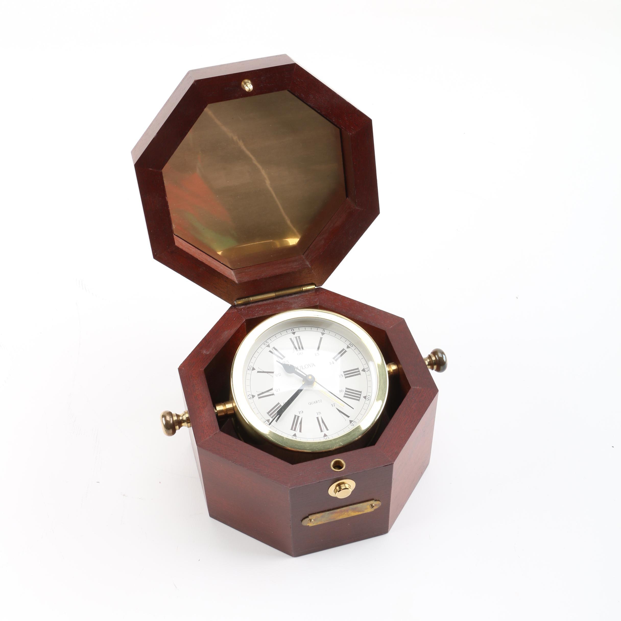 Bulova Quartermaster and Elgin German Anniversary Clock