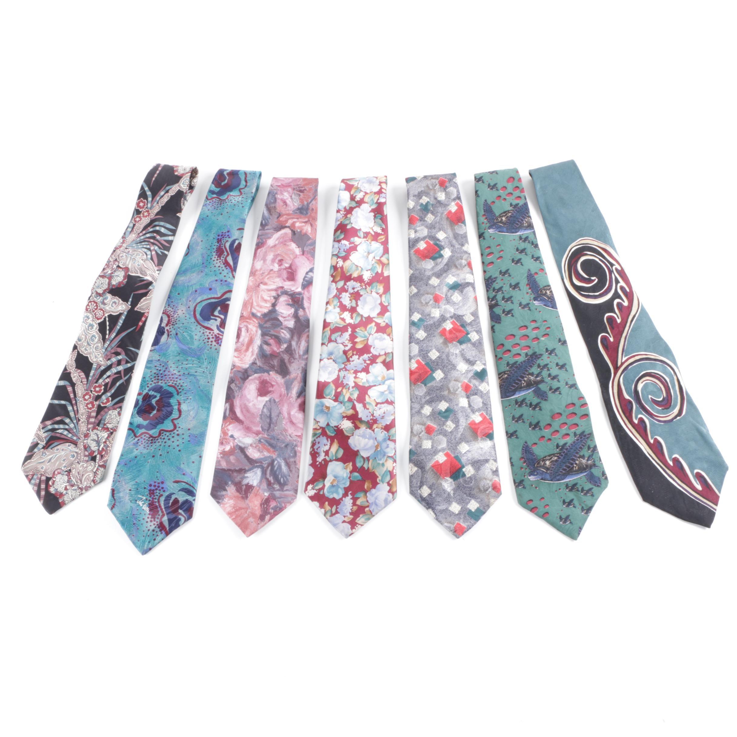 Men's Silk Neckties Including John Weitz and Wembley Endangered Species