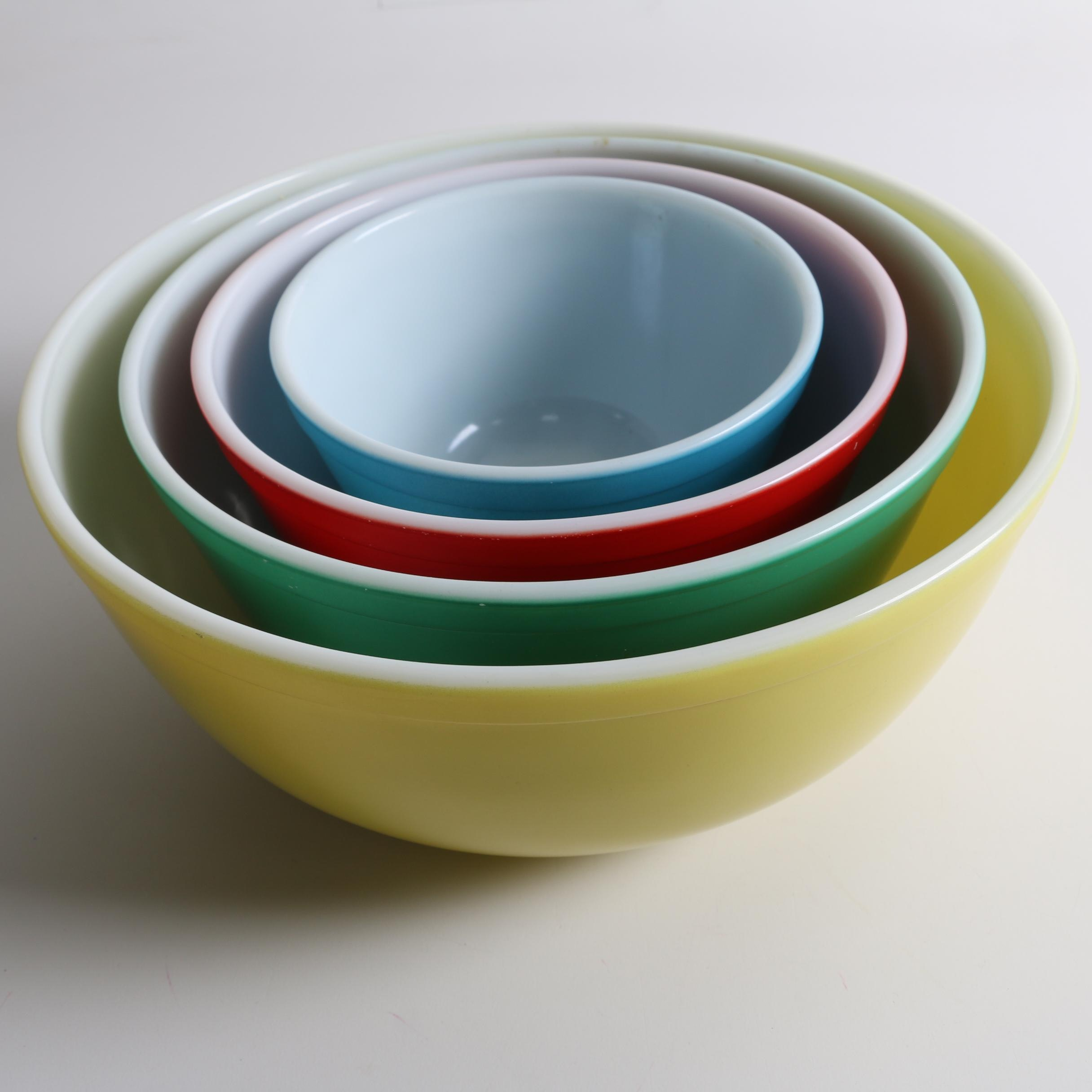 "Pyrex ""Primary Colors"" Nesting Mixing Bowls, Circa 1945-1949"