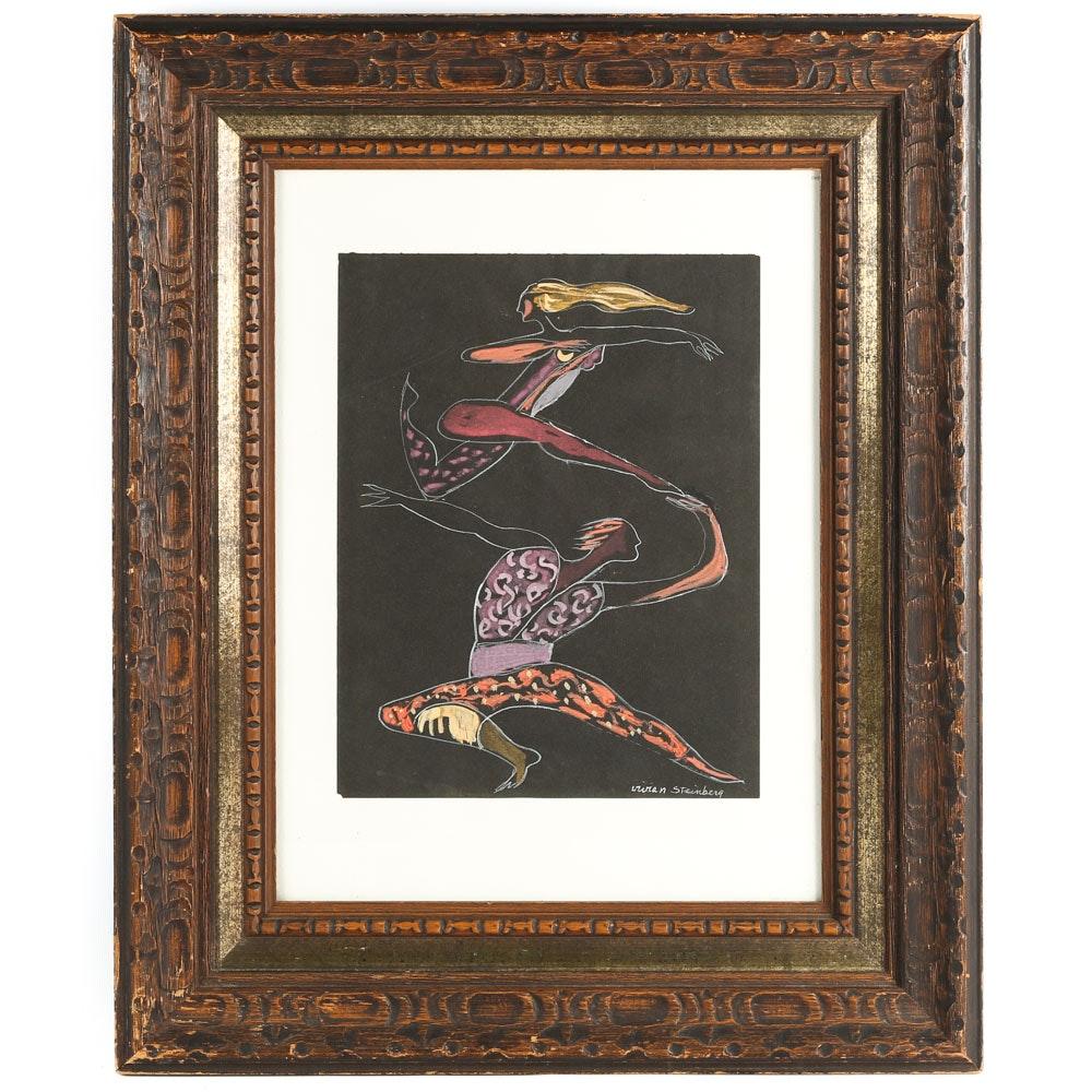 "Vivian Steinbery Gouache on Paper ""Dancers"""