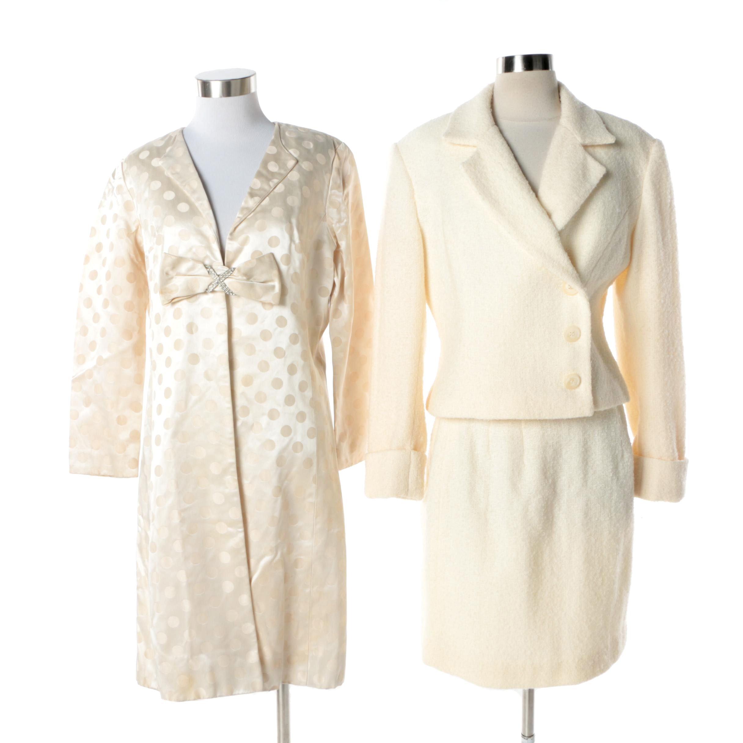 Apart Impressions Bouclé Wool Blend Knit Skirt Suit with Dress Jacket