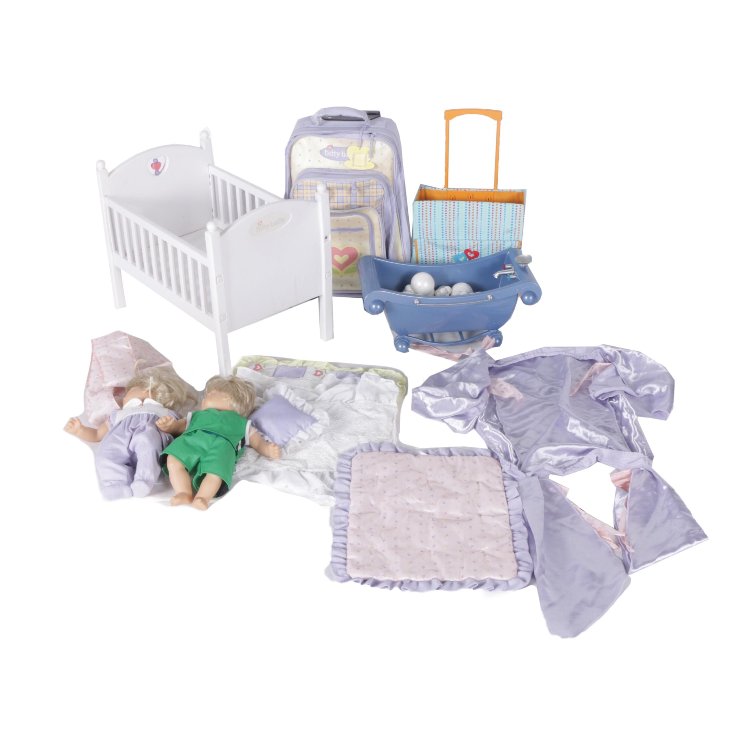 "American Girl ""Bitty Twins"" Dolls and Accessories"