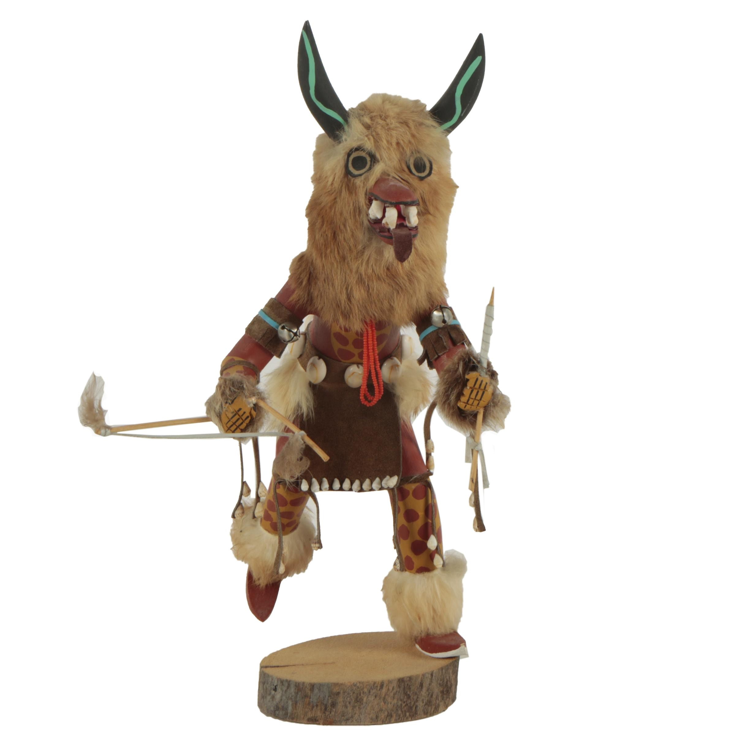 "N. Smith Hopi-inspired Kachina Doll ""Orgre"""