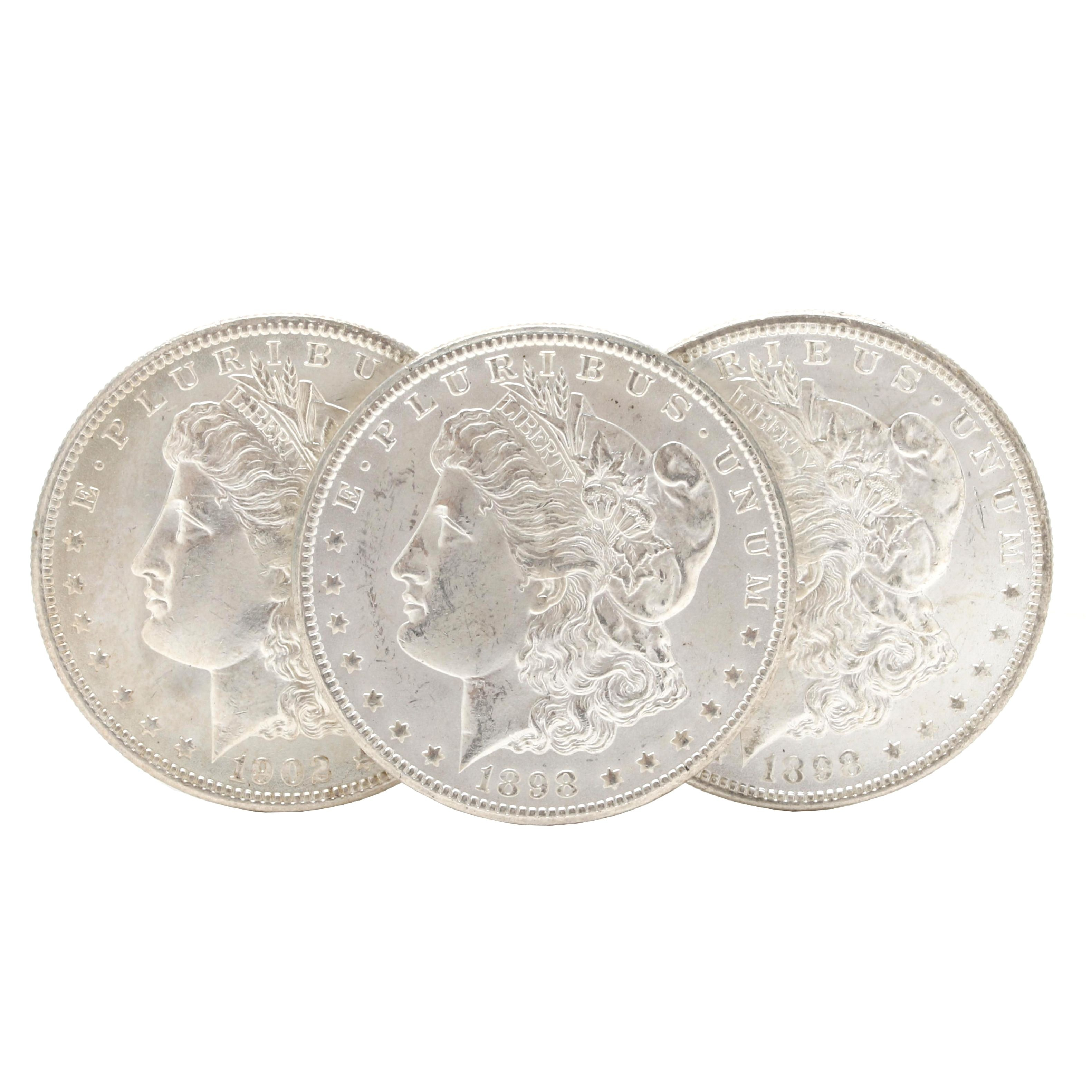 Three New Orleans Morgan Silver Dollars