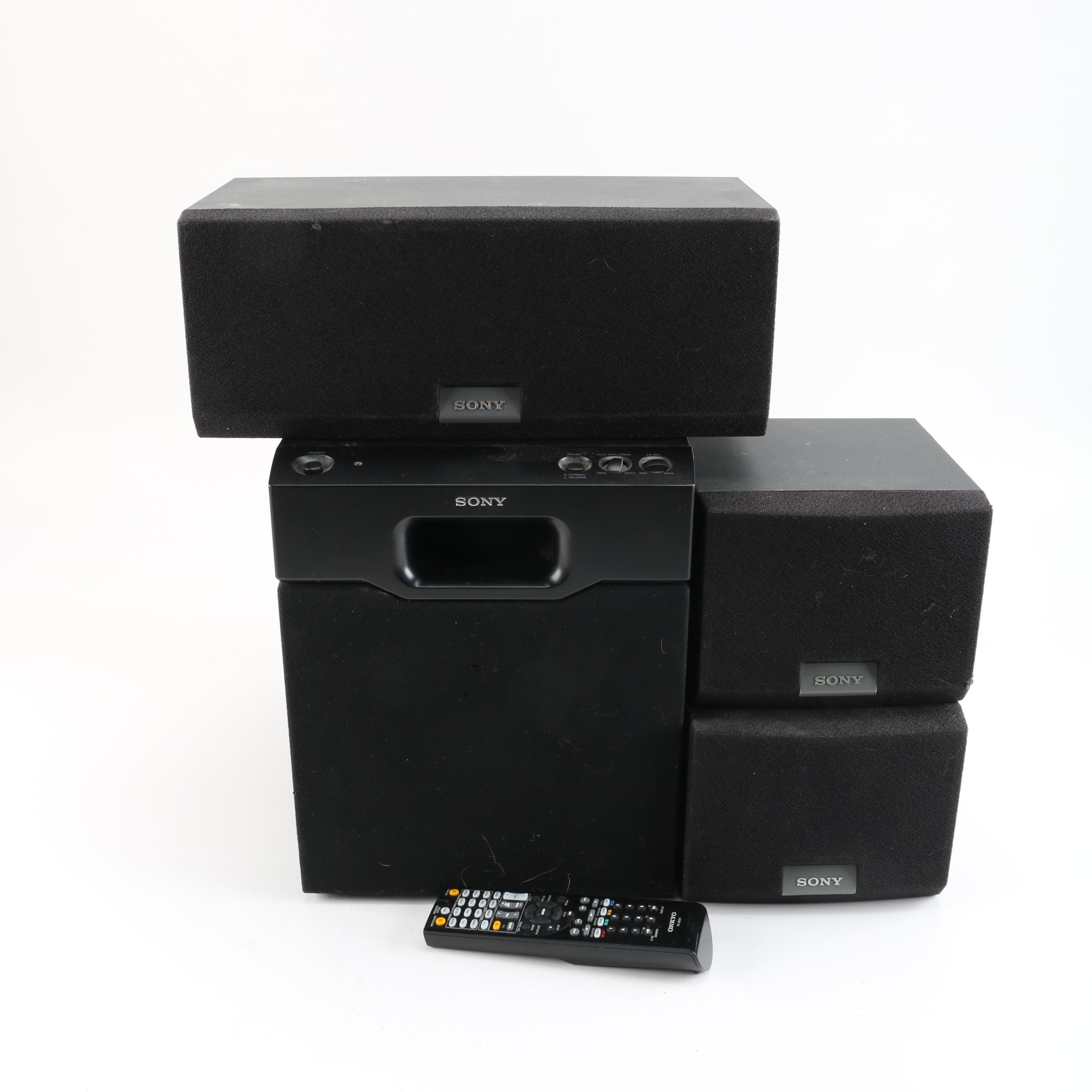 Set of Sony Surround Sound Speakers