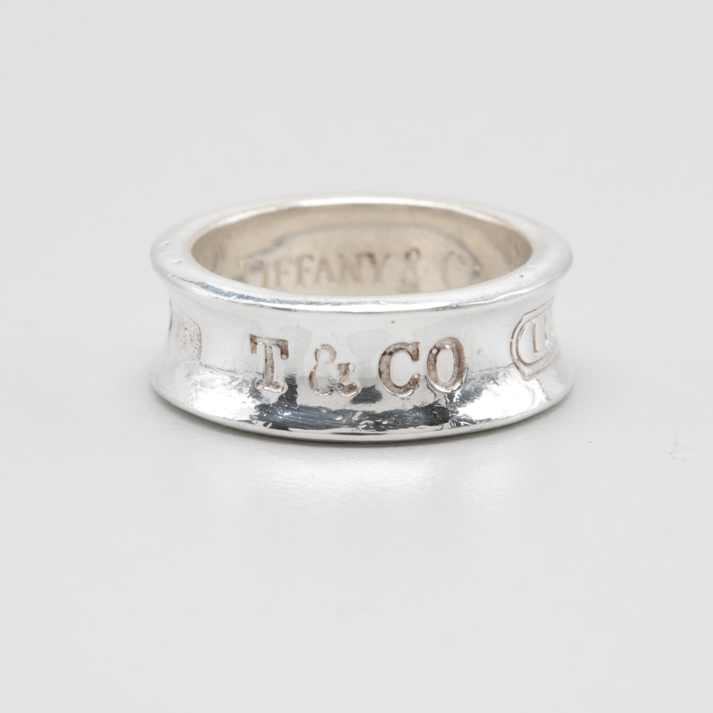 "Circa 1997 Tiffany & Co. ""1837"" Sterling Silver Ring"