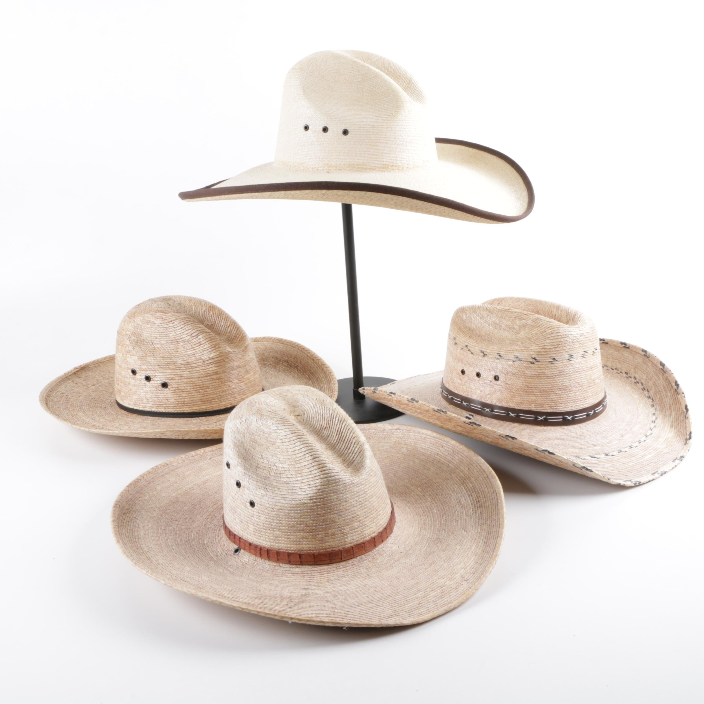 Men's Western Style Hats Including Texas Hat Co.