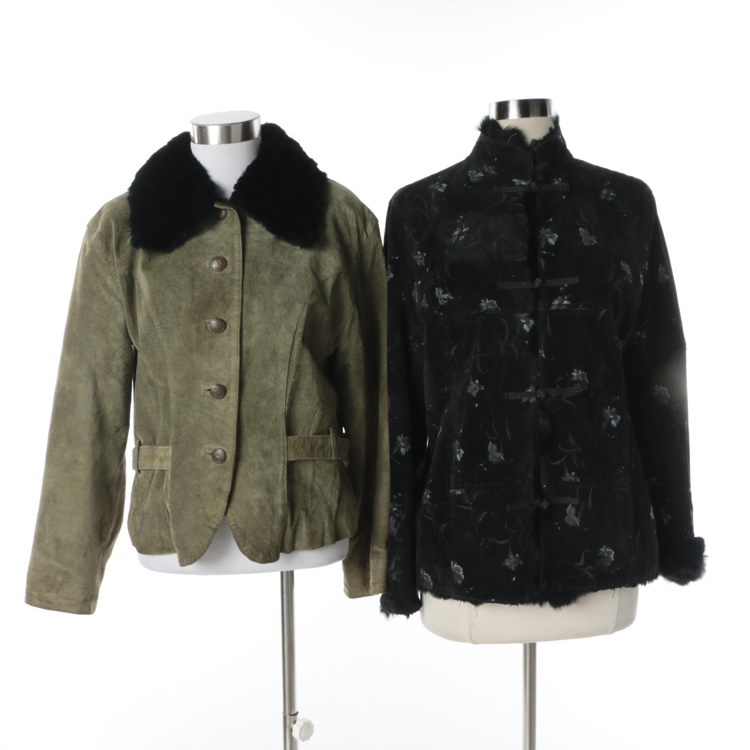 Women's Cabo and Atelier Sab Suede Jackets with Dyed Rabbit Fur