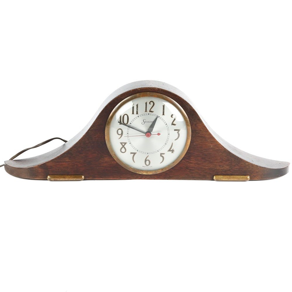 Sessions Mid-Century Mantel Clock