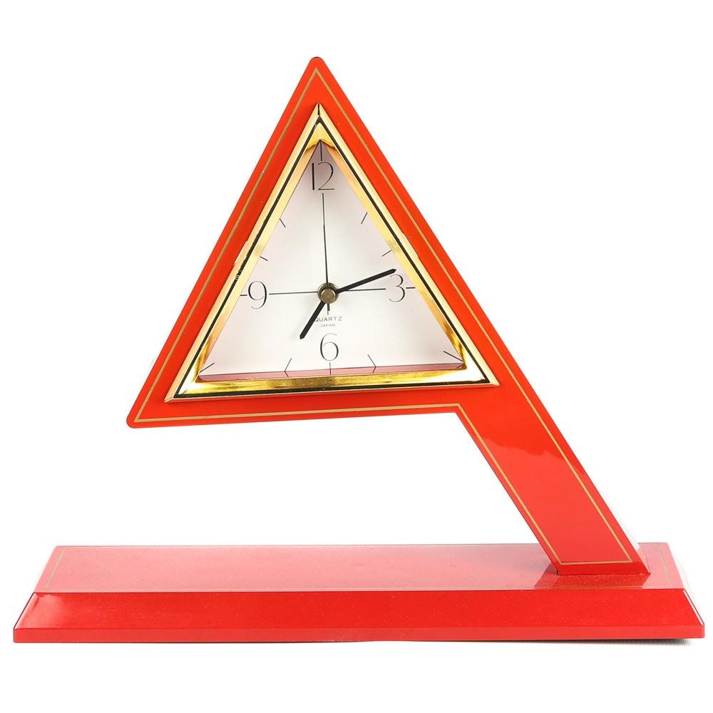 Modernist Quartz Mantel Clock