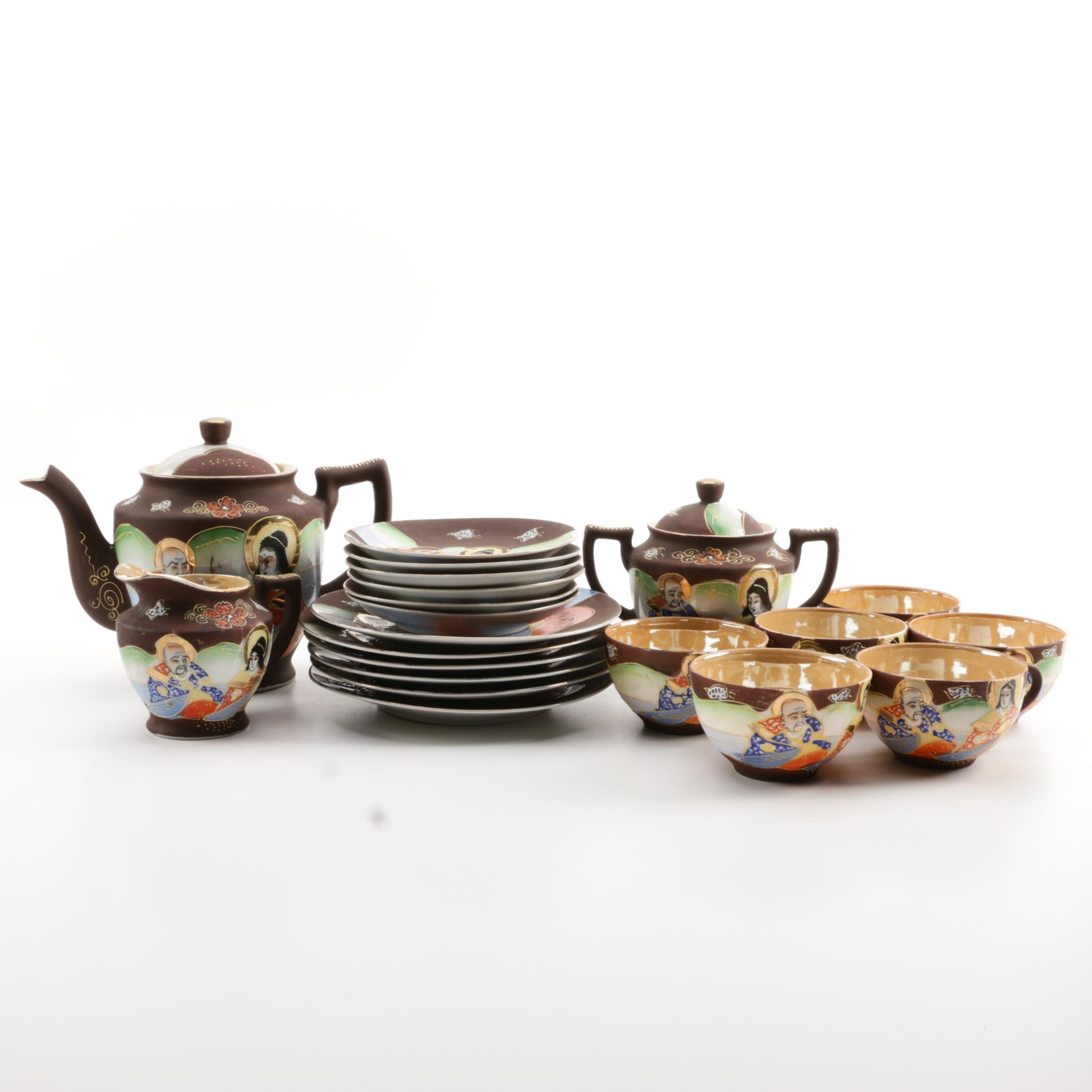 Japanese Satsuma Style Porcelain Tea Service