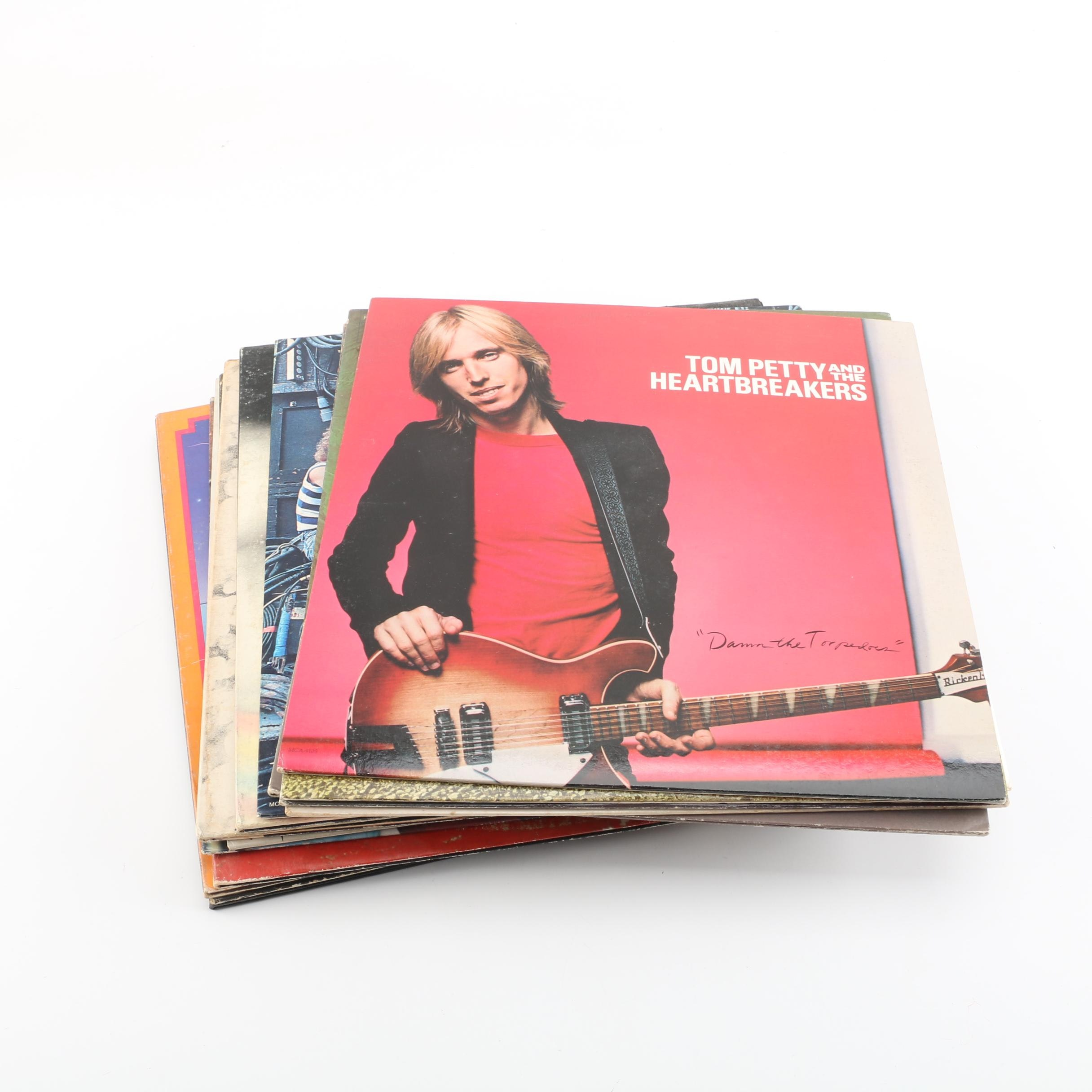 Vintage Rock Records Featuring Tom Petty and Tom Waits
