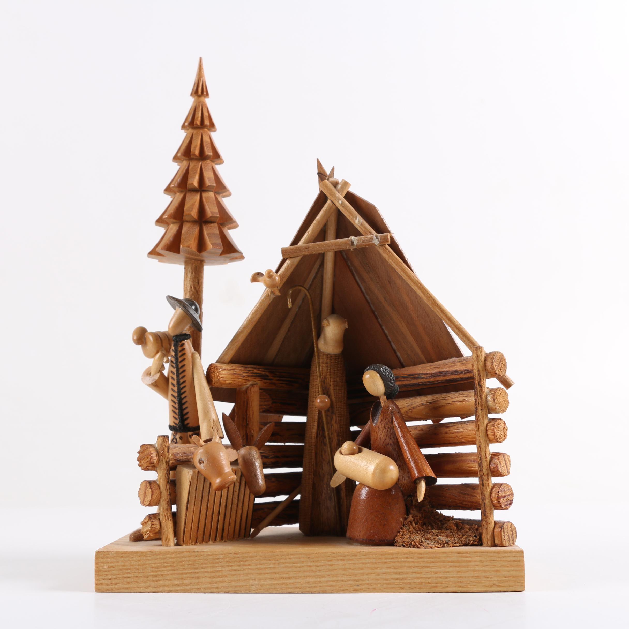 Wooden Nativity Figurine