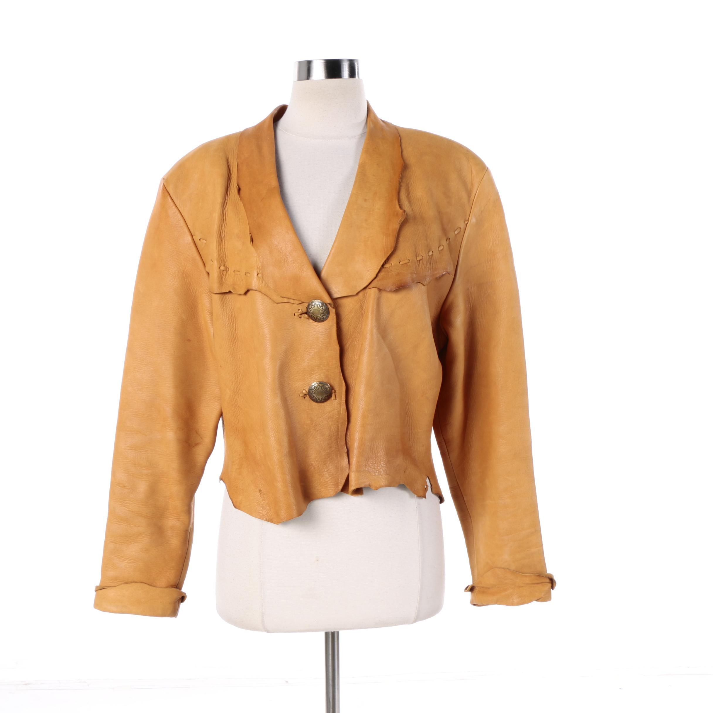 Women's Zephyr Unlimited Raw Edge Leather Jacket