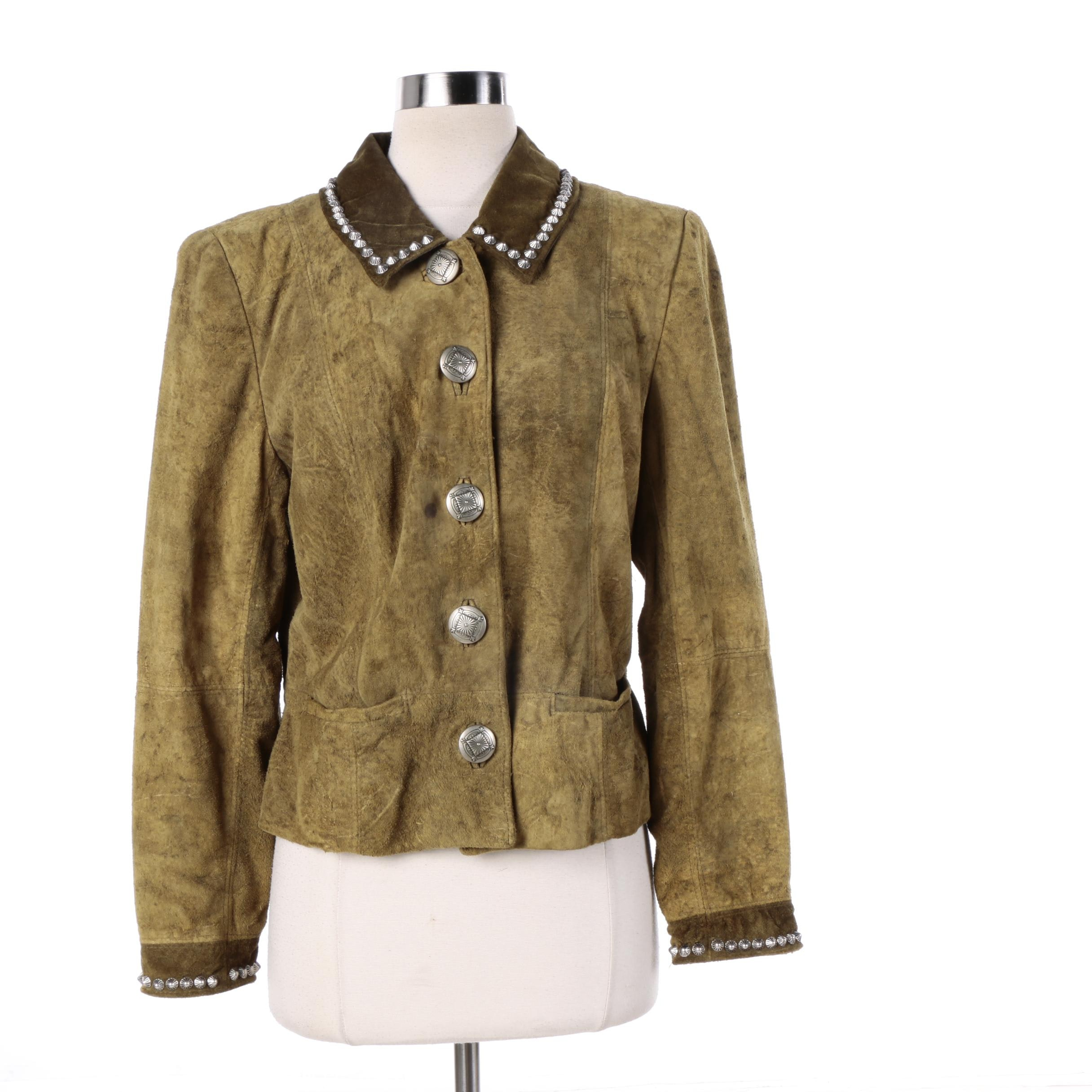 Women's Double D Ranch Suede Leather Jacket