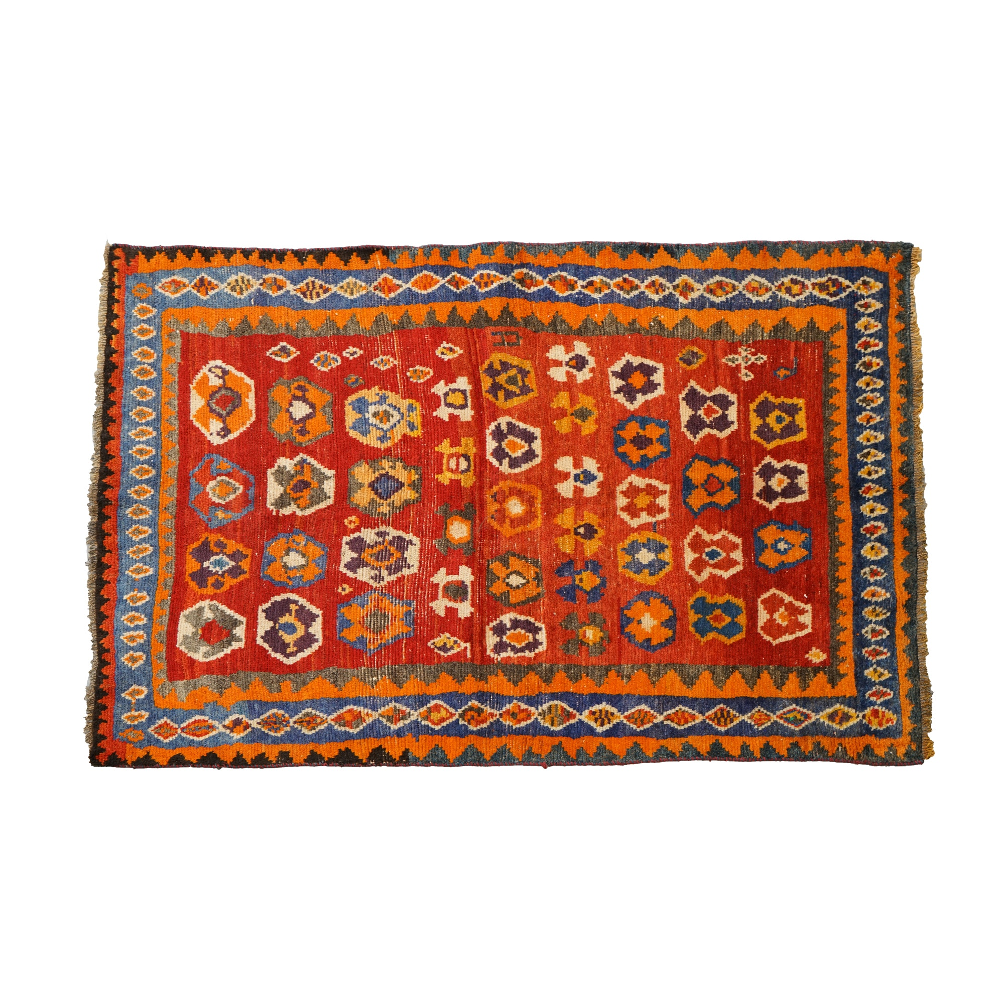 Hand-Knotted Persian Gabbeh Wool Area Rug