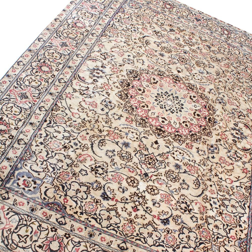8' x 11' Hand-Knotted Persian Nain Rug