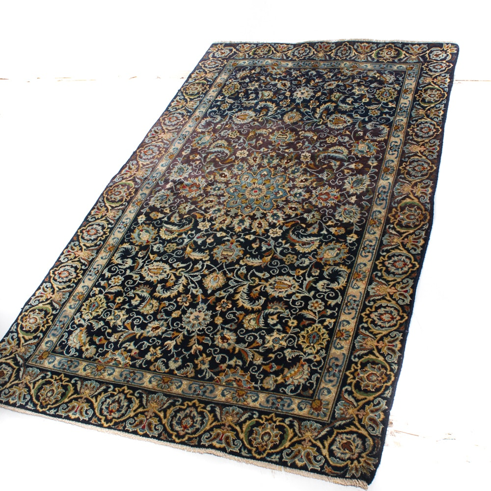 4' x 7' Hand-Knotted Persian Kashan Rug