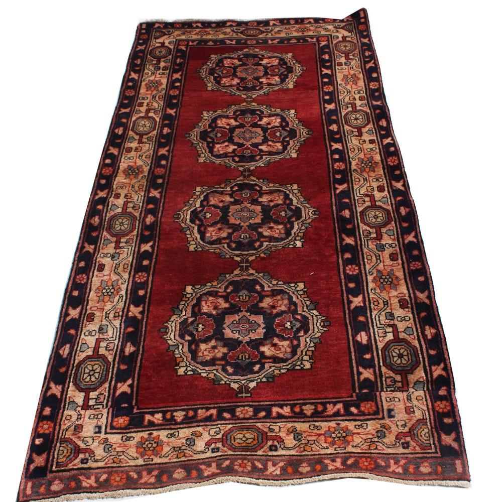 3' x 7' Hand-Knotted Persian Karaja Heriz Rug