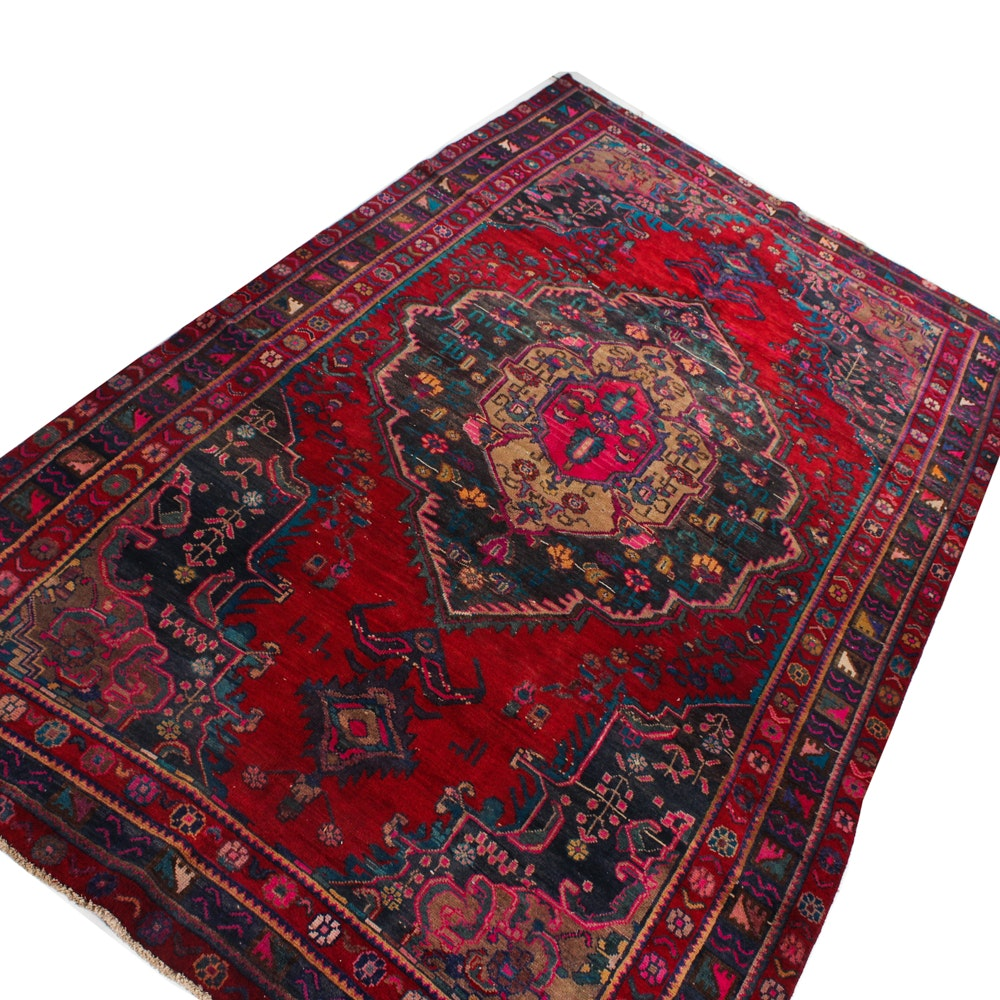 7' x 11' Vintage Hand-Knotted Persian Mahal Sarouk Rug