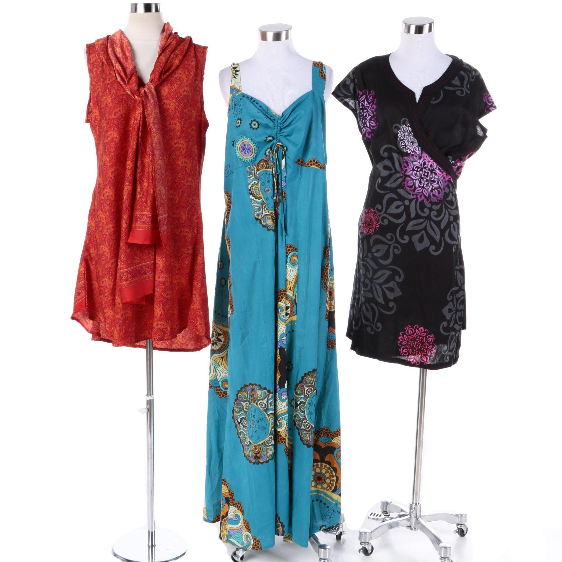 Women's Aller Simplement Printed Dresses Including Maxi Dress