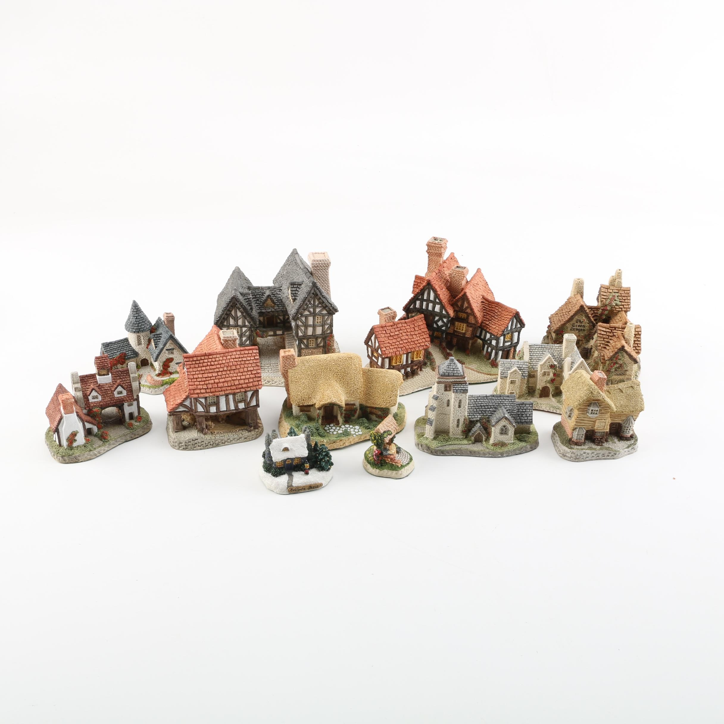 Set of David Winter Hand-Crafted Miniature Houses