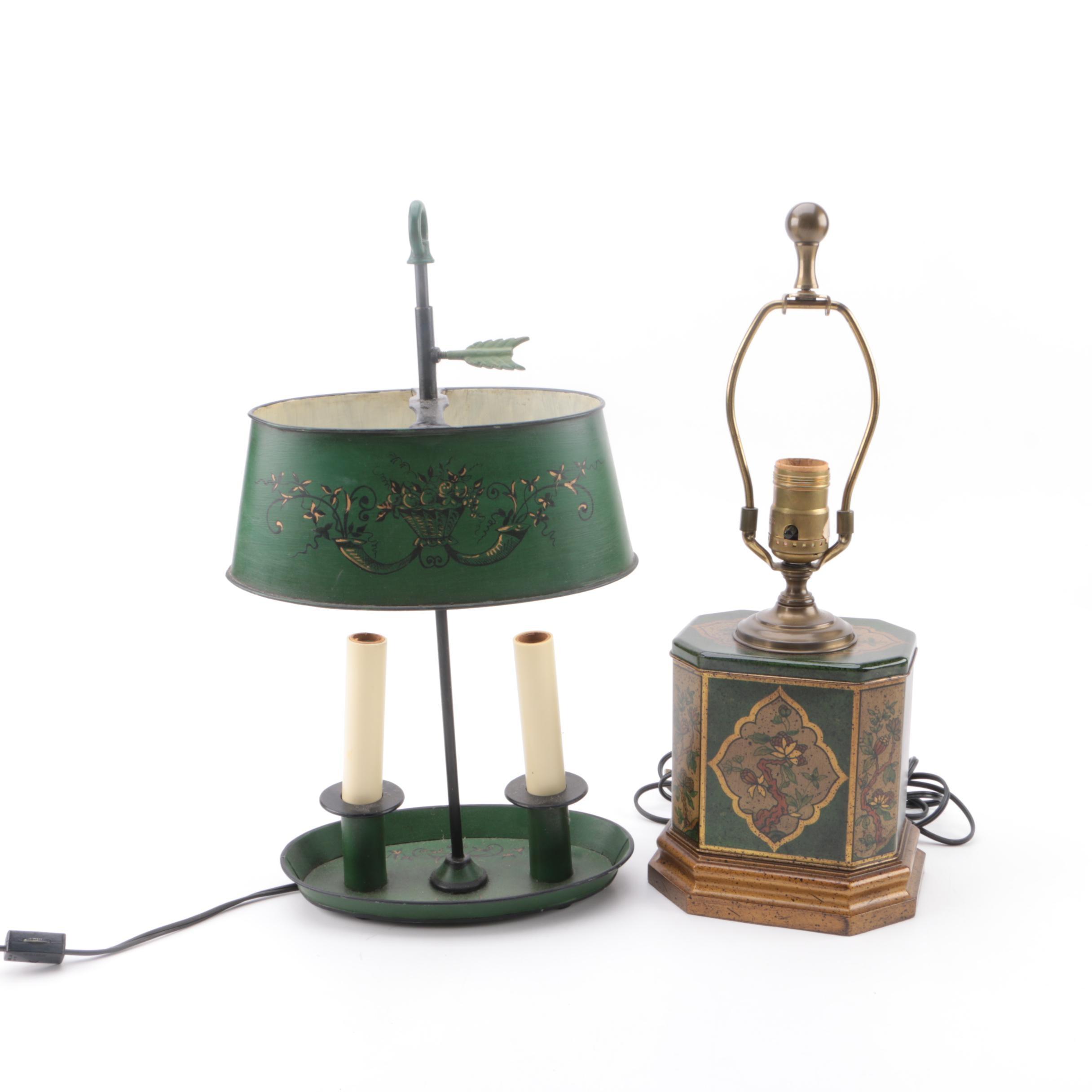 Vintage Table Lamps including Chapman Bouillotte Lamp