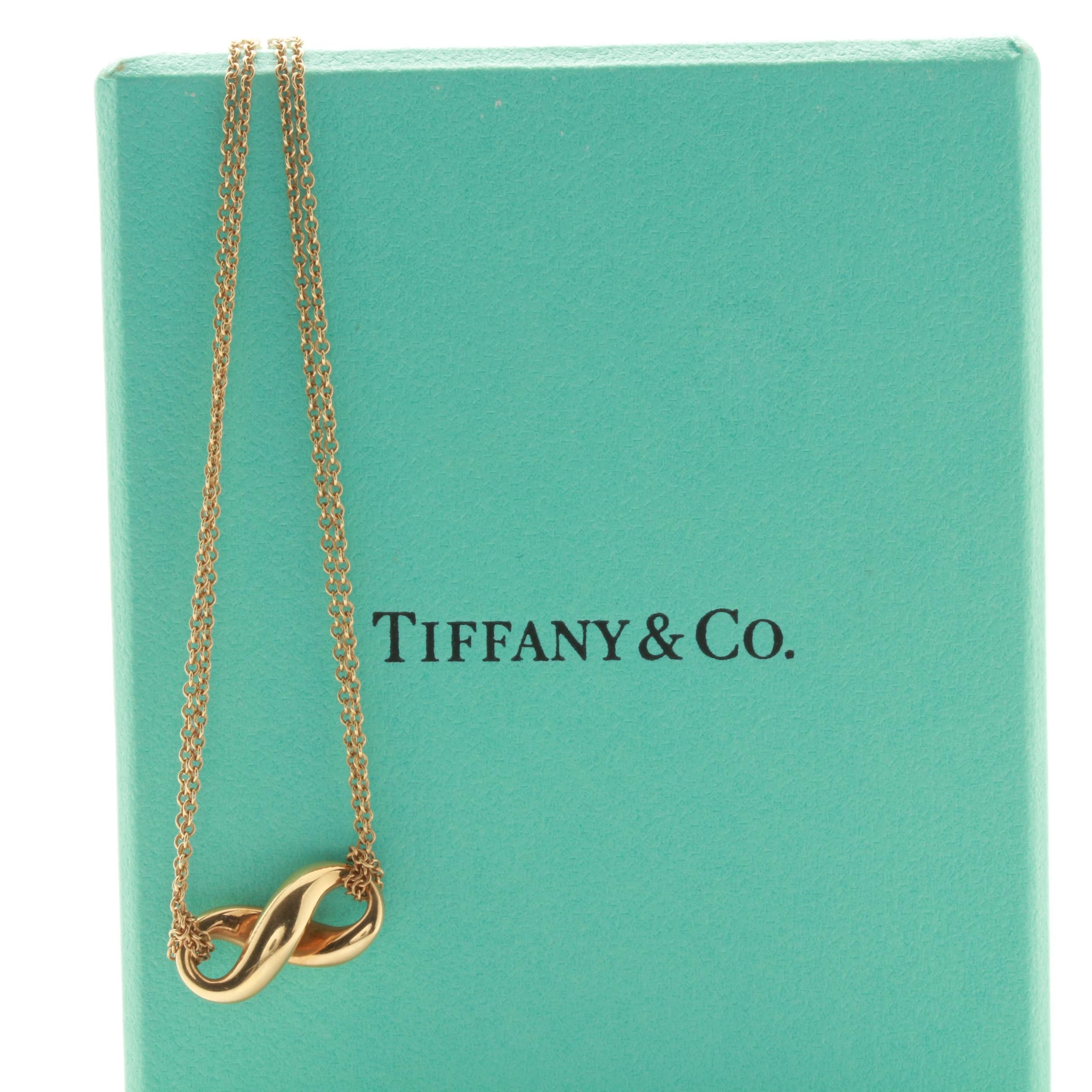 Tiffany & Co. 18K Yellow Gold Infinity Necklace