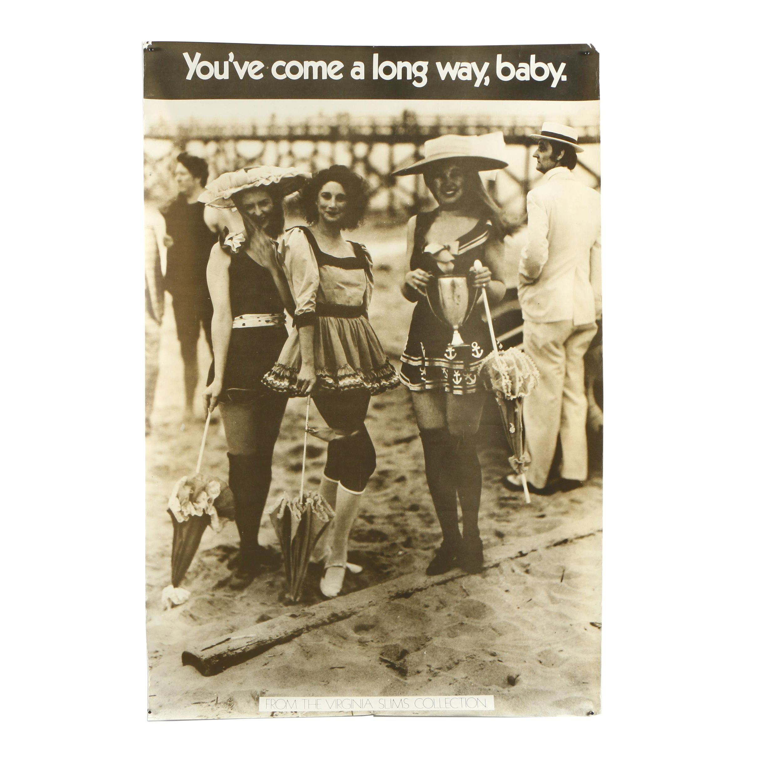 """Poster Print Advertisement for Virginia Slims """"You've Come a Long Way, Baby"""""""