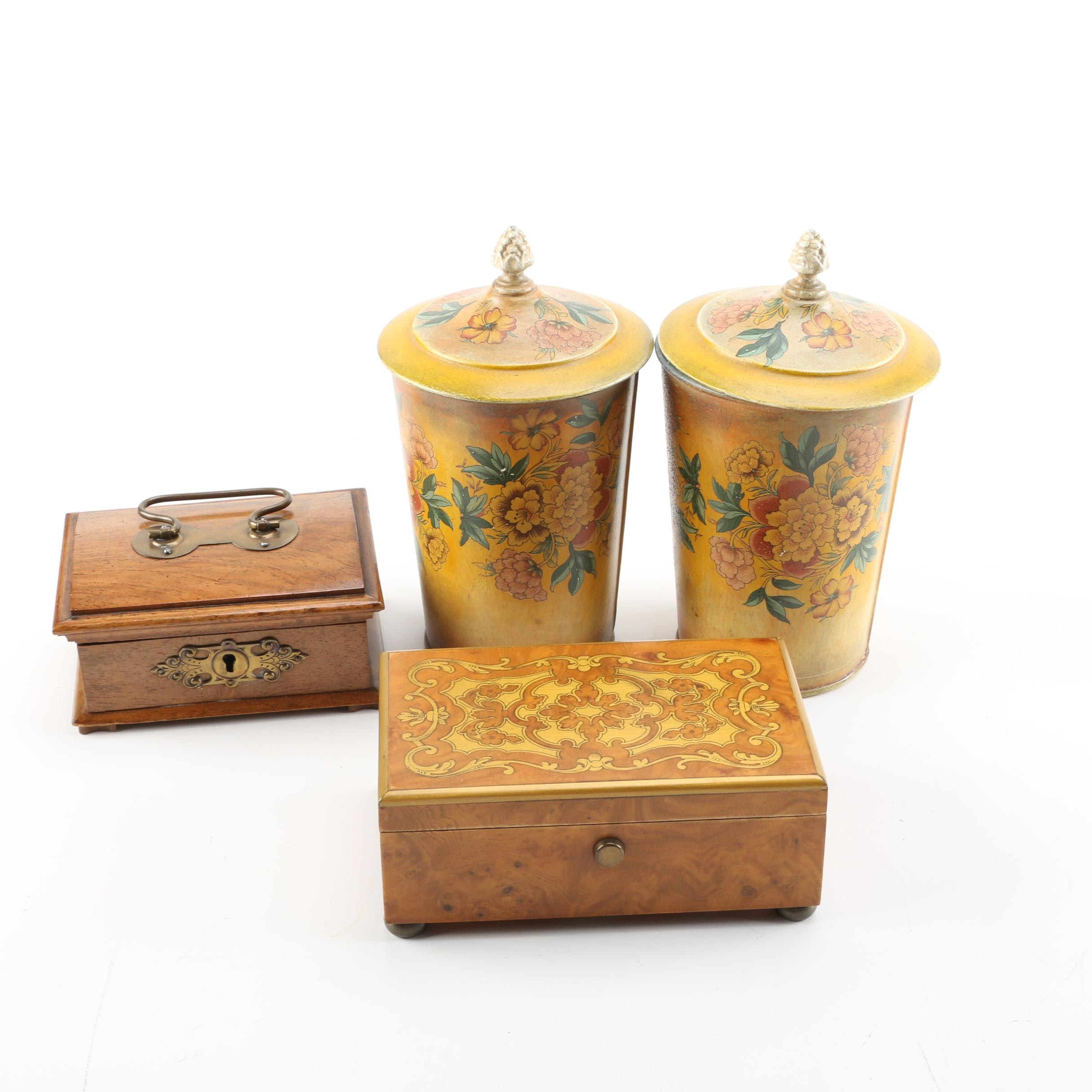 Decorative Containers and Boxes including Reuge