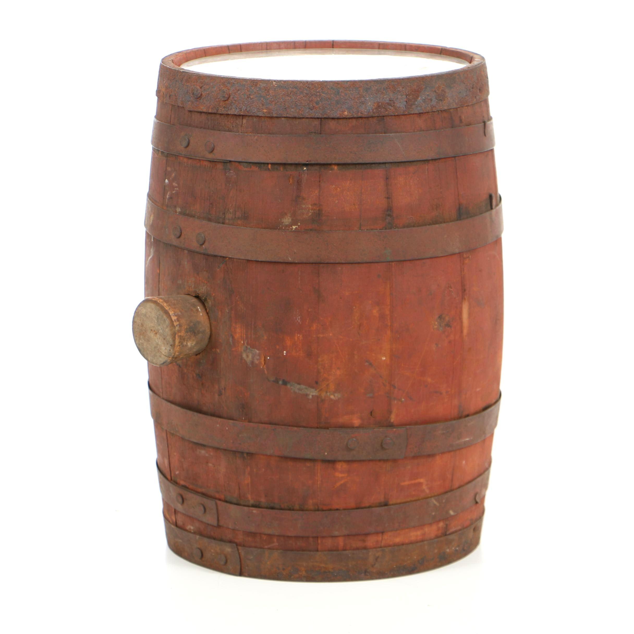 Vintage Coca-Cola Five Gallon Syrup Barrel with Original Label