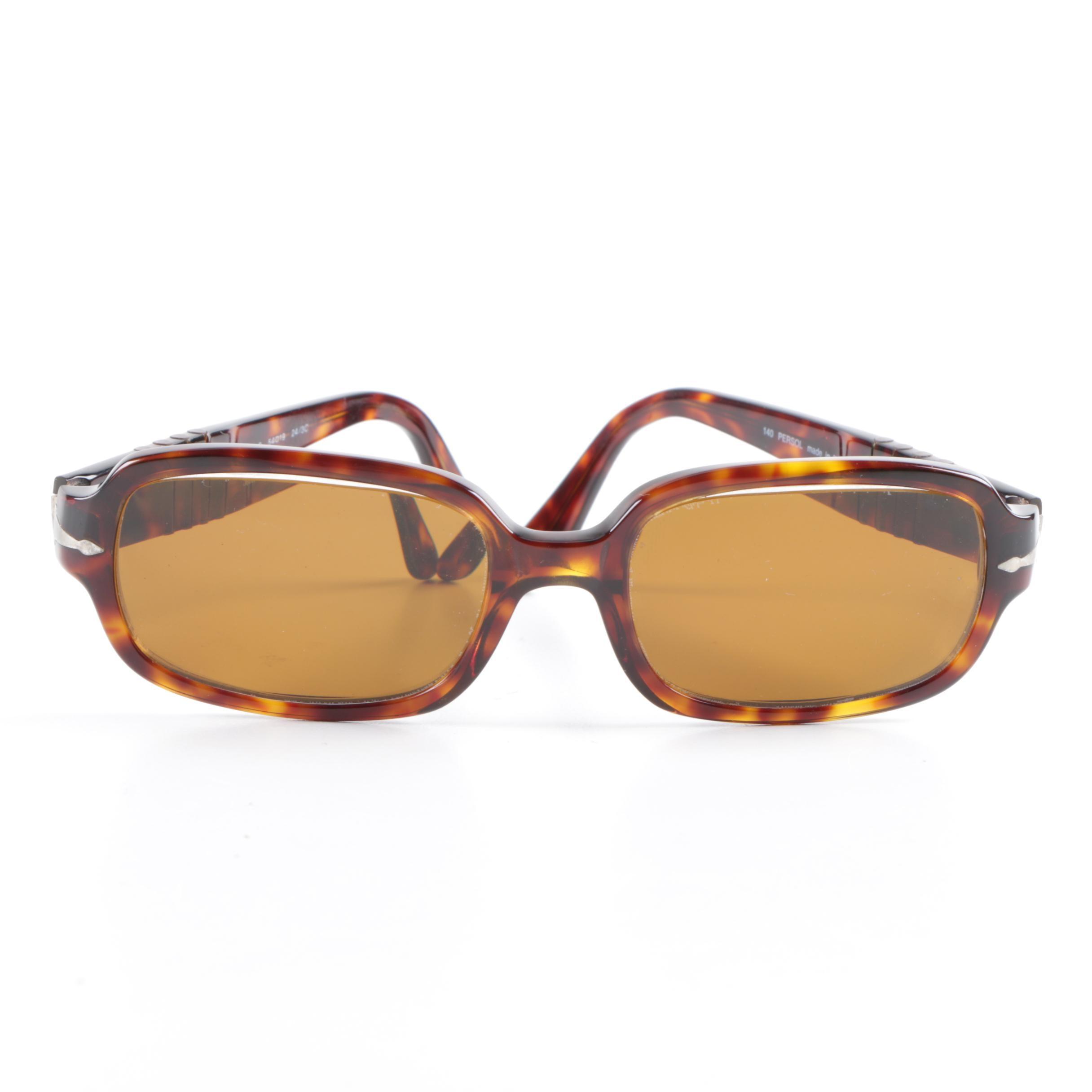 1980s Vintage Persol 2658 Tortoiseshell Style Sunglasses