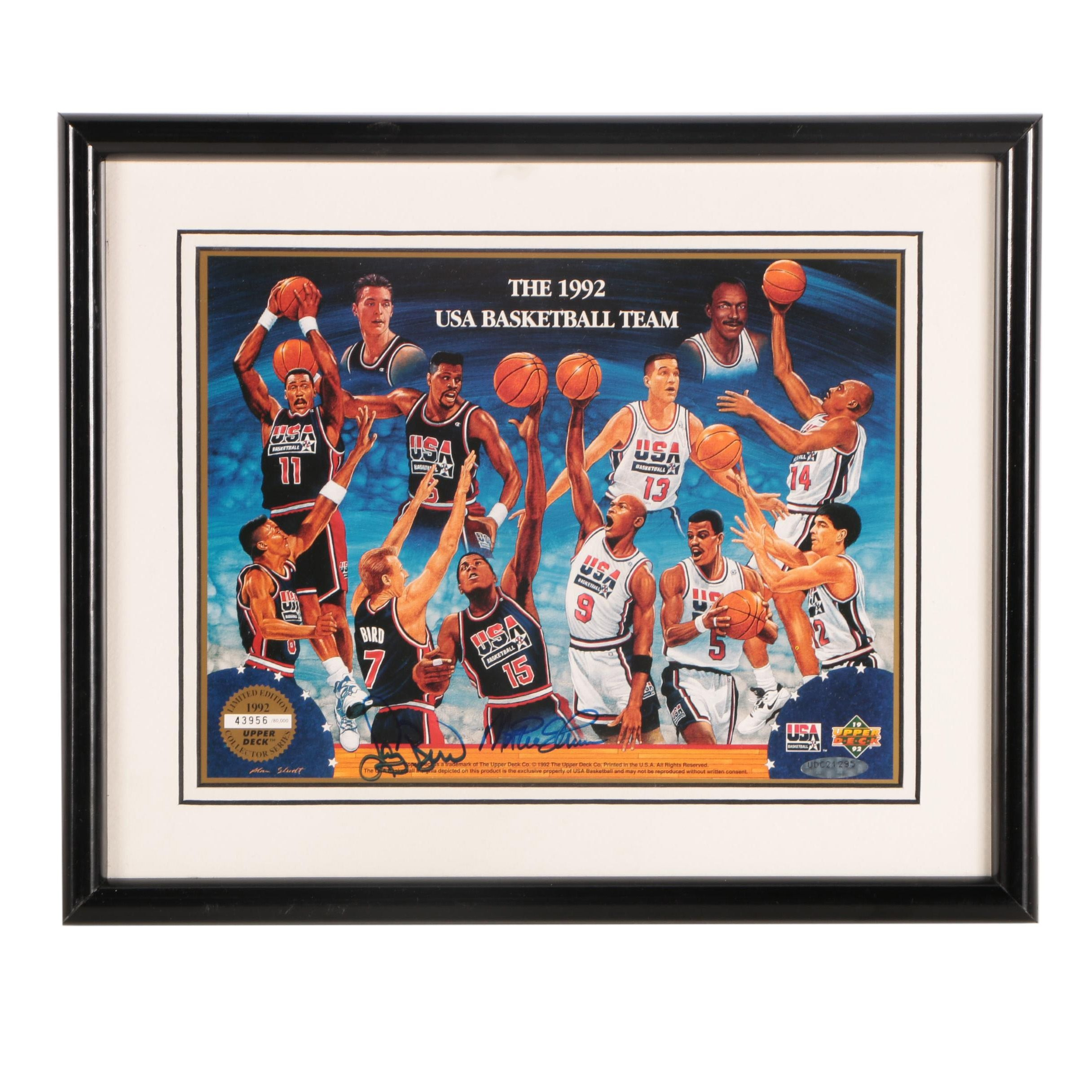 Limited Edition Autographed Print of the 1992 USA Men's Olympic Basketball Team