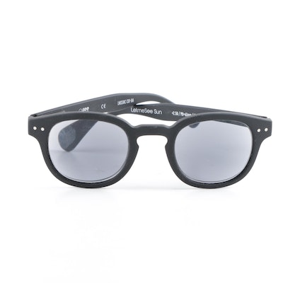 eb8411bf610 See Concept Black Horn-Rimmed Let Me See Sunglasses