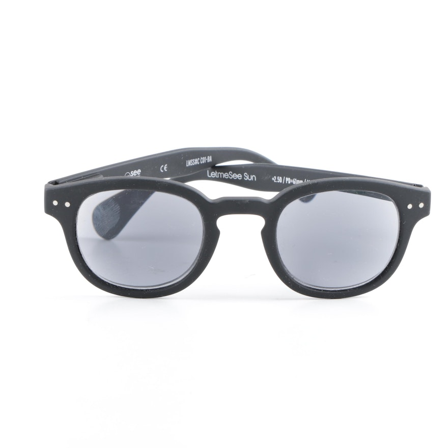 0dbd516e550 See Concept Black Horn-Rimmed Let Me See Sunglasses   EBTH