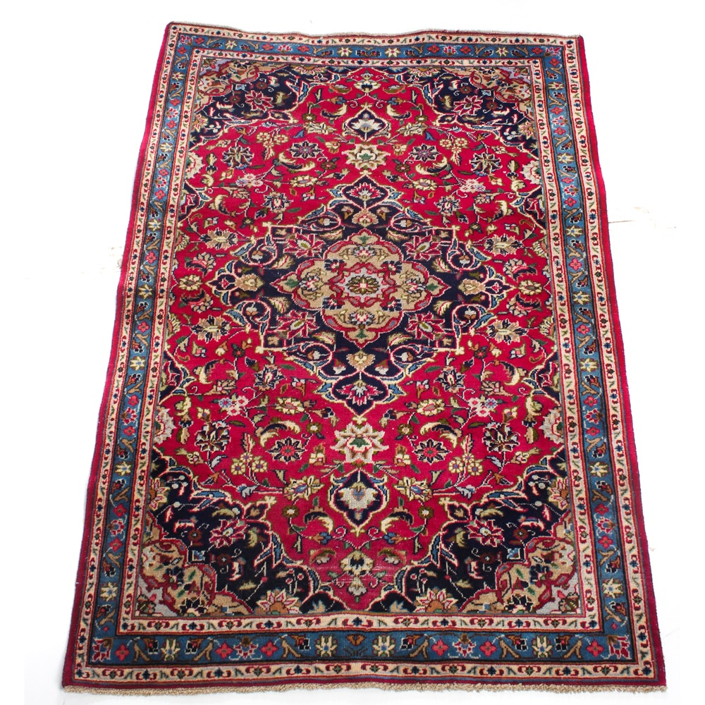 4' x 6' Hand-Knotted Persian Kashan Rug