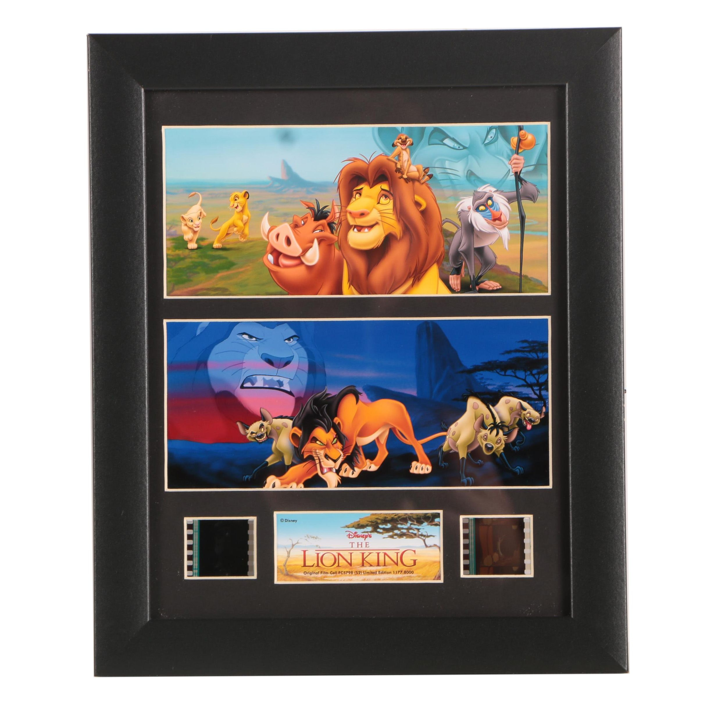 """Disney's """"Lion King"""" Film Cells and Giclee Prints"""