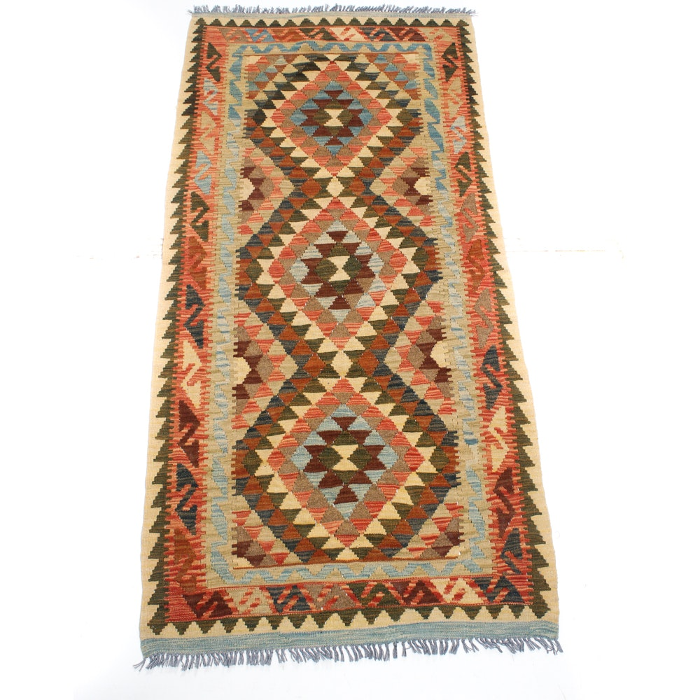 3' x 7' Handwoven Turkish Kilim