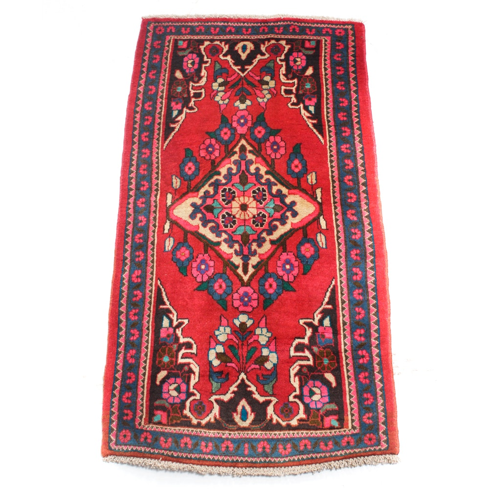 2' x 5' Vintage Hand-Knotted Persian Rug