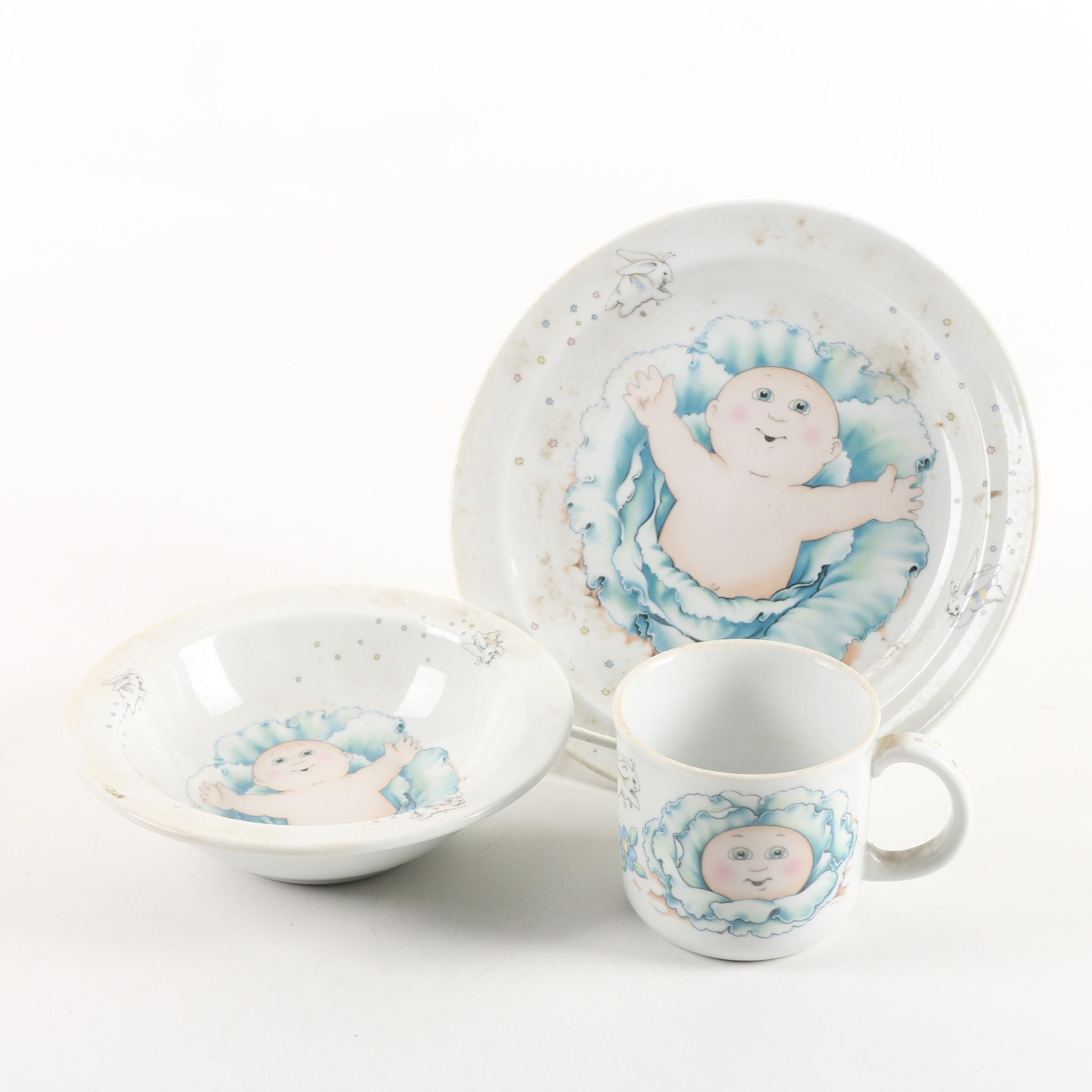 "Royal Worcester ""Cabbage Patch Kids"" Child's Tableware, Circa 1984"