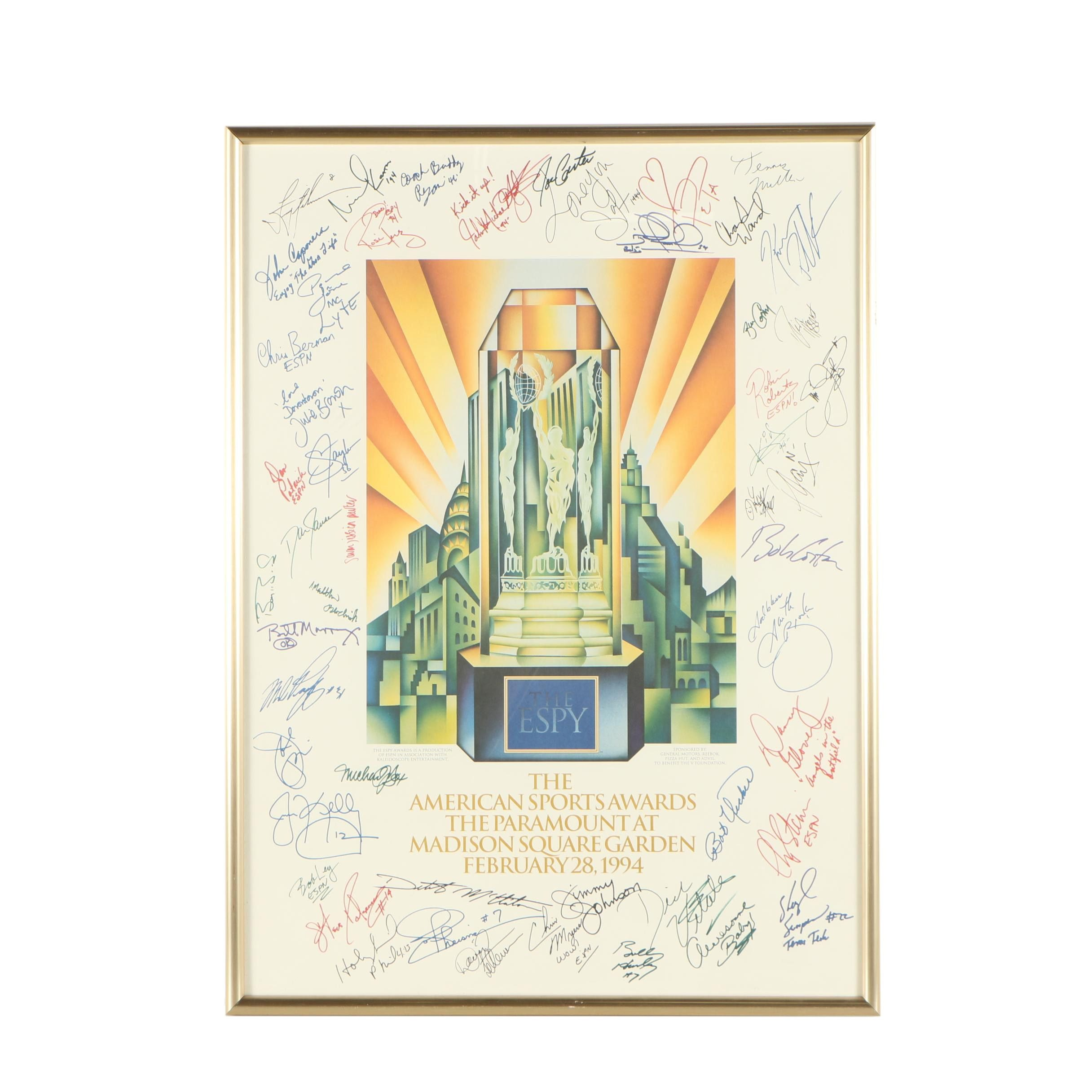 Offset Lithograph of 1994 Espy Awards Poster