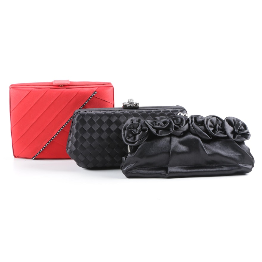 Satin Evening Bags Including Nordstrom And Barbara Bolan