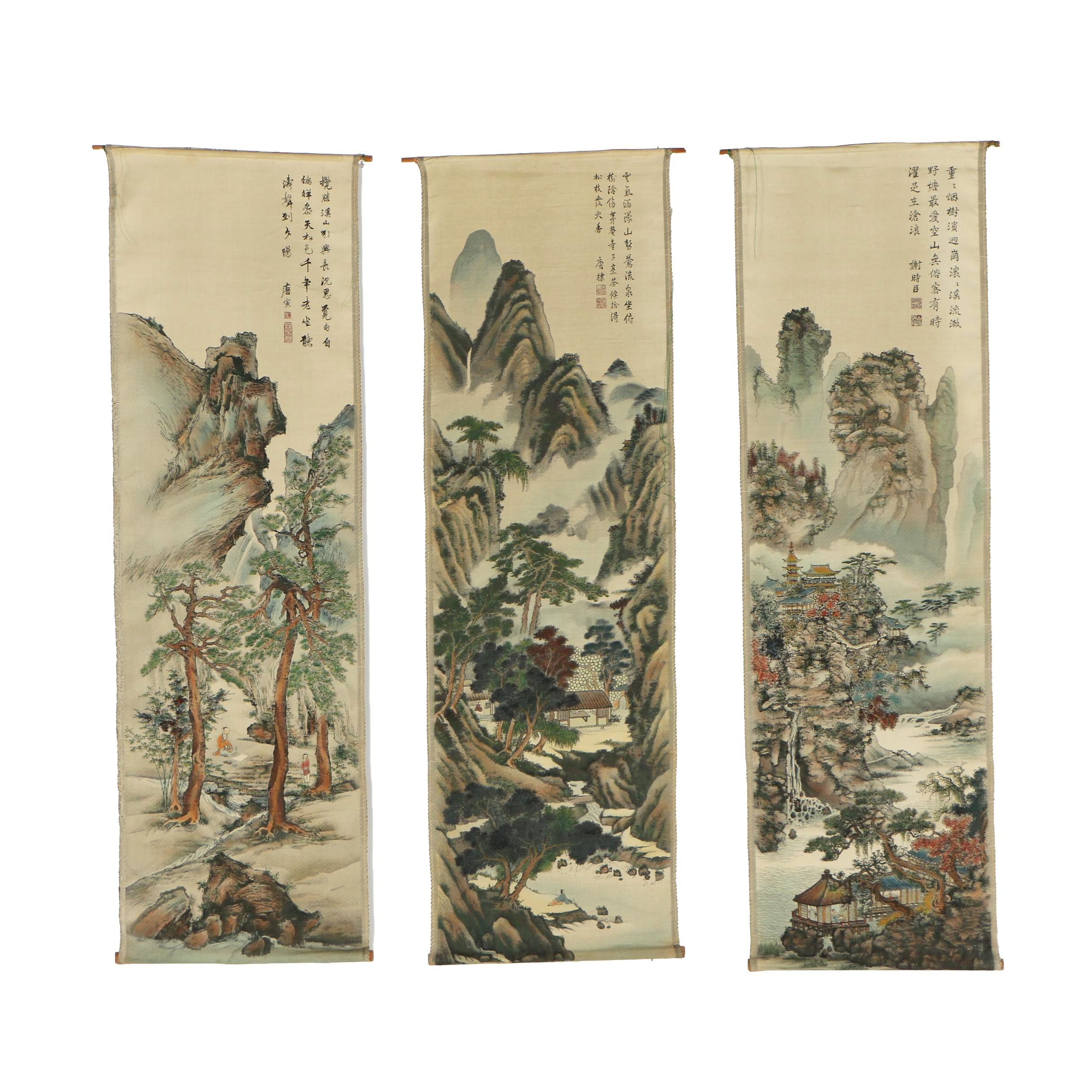 Chinese Hanging Scroll Tapestries